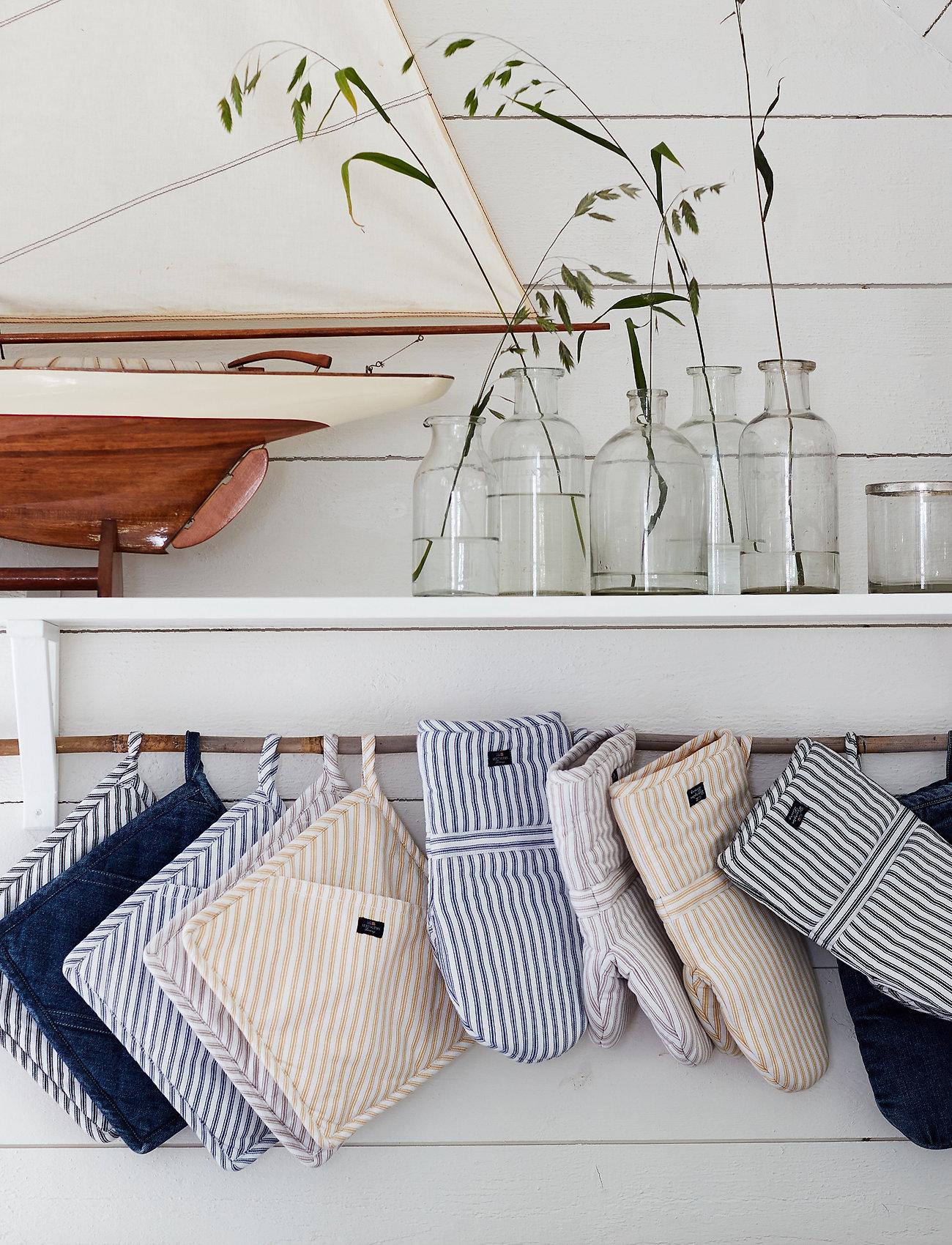 Lexington Home - Icons Cotton Herringbone Striped Potholder - pannulaput ja patakintaat - black/white - 1