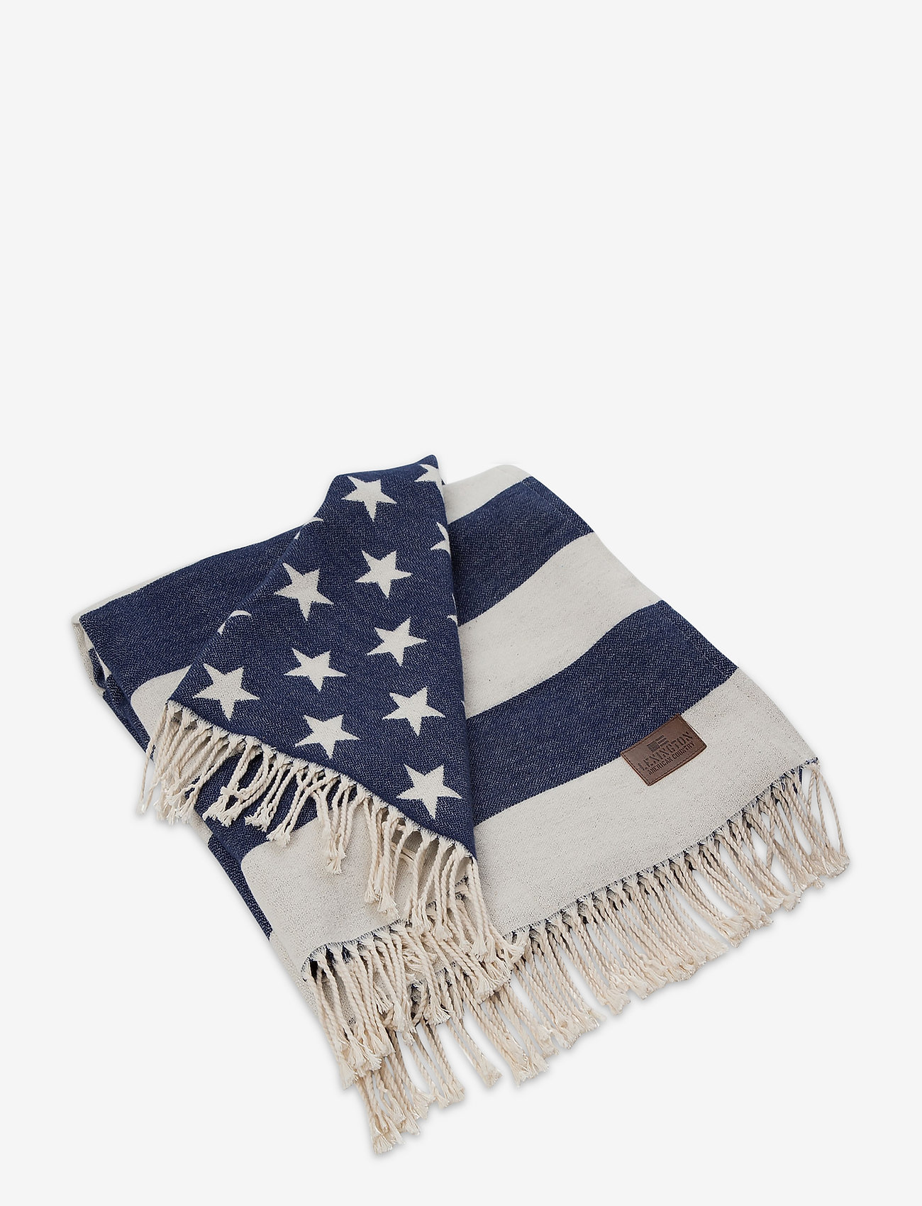 Lexington Home - Flag Throw - blankets - white/navy - 0