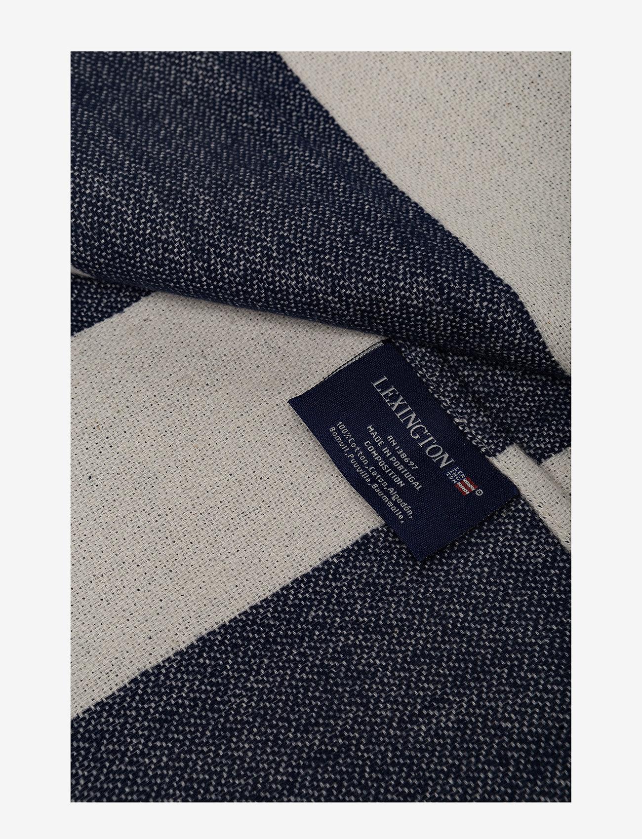Lexington Home - Flag Throw - blankets - white/navy - 1