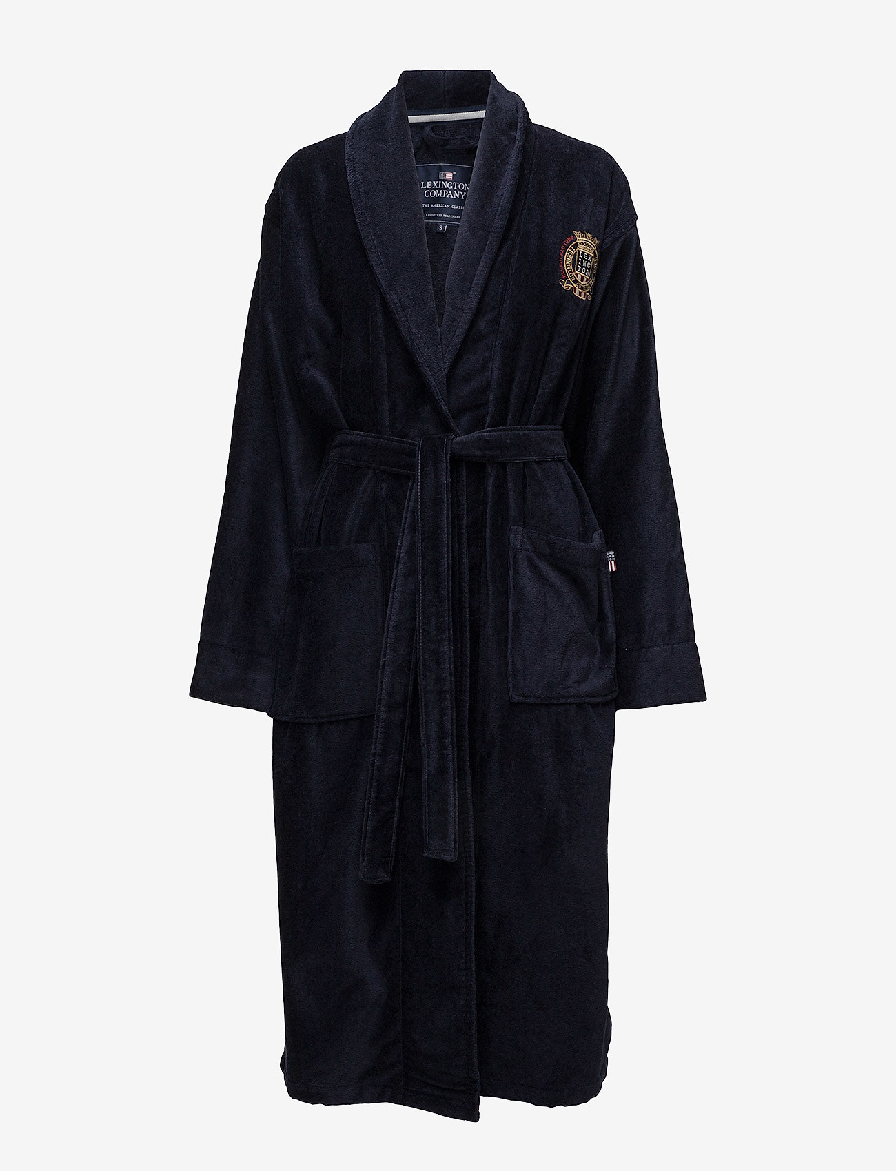 Lexington Home - Lexington Velour Robe - pegnoirs - blue - 0