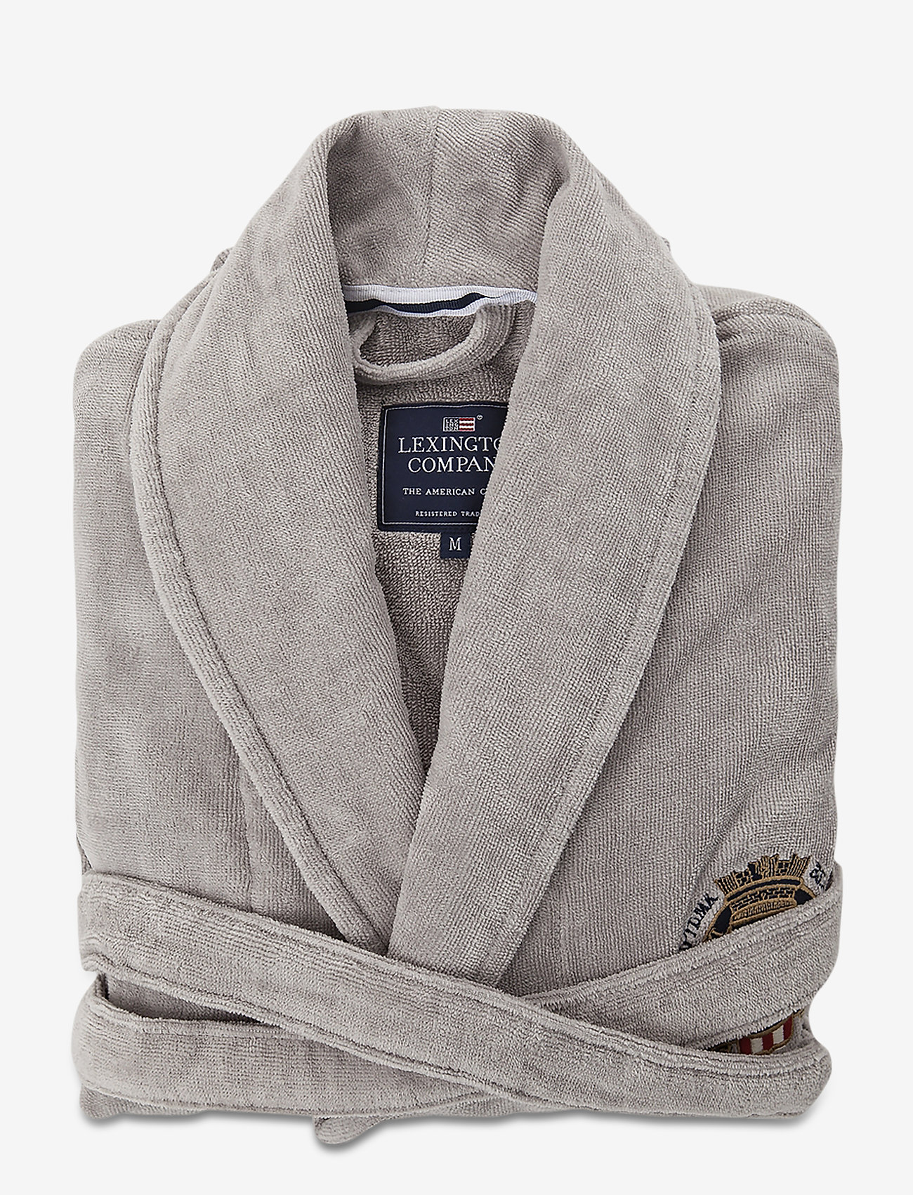 Lexington Home - Lexington Velour Robe - badrockar - gray - 0