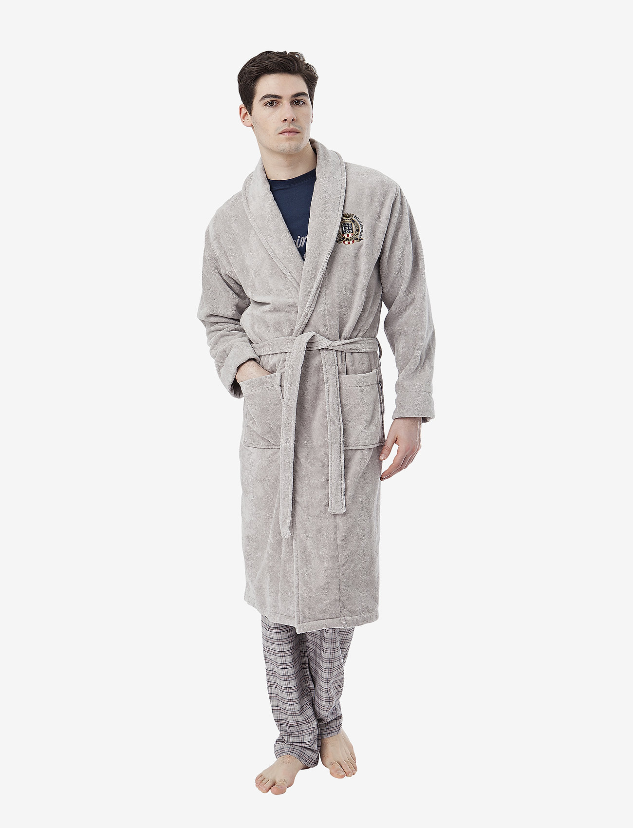 Lexington Home - Lexington Velour Robe - badrockar - gray - 1