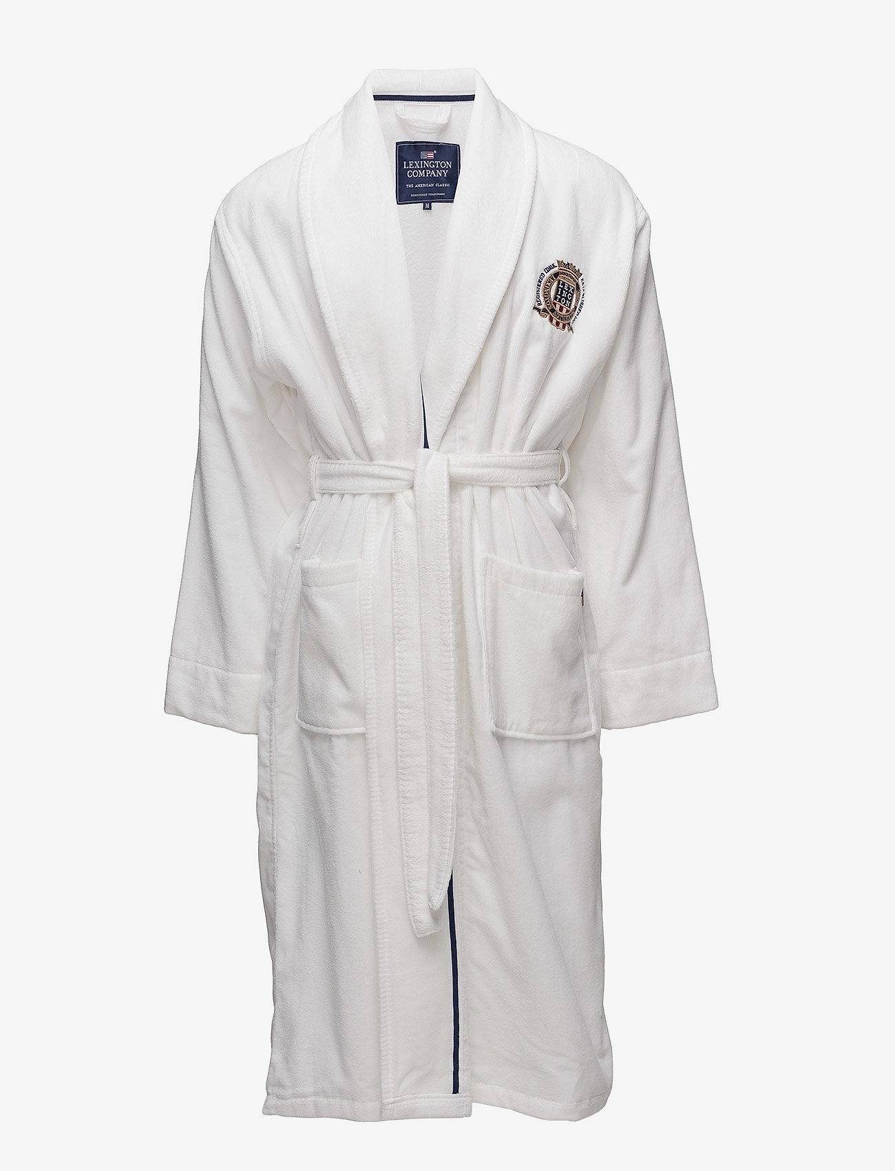 Lexington Home - Lexington Velour Robe - pegnoirs - white - 0