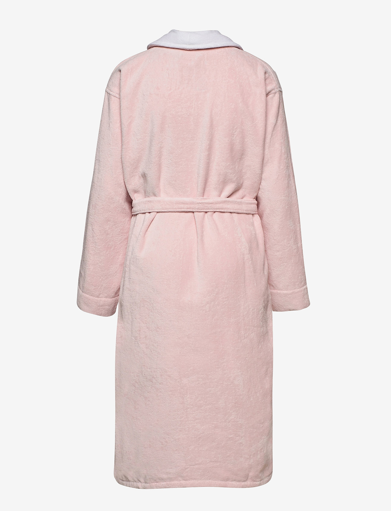 Lexington Home - Lexington Cotton Velour Contrast Robe - bedrok - pink/white - 1