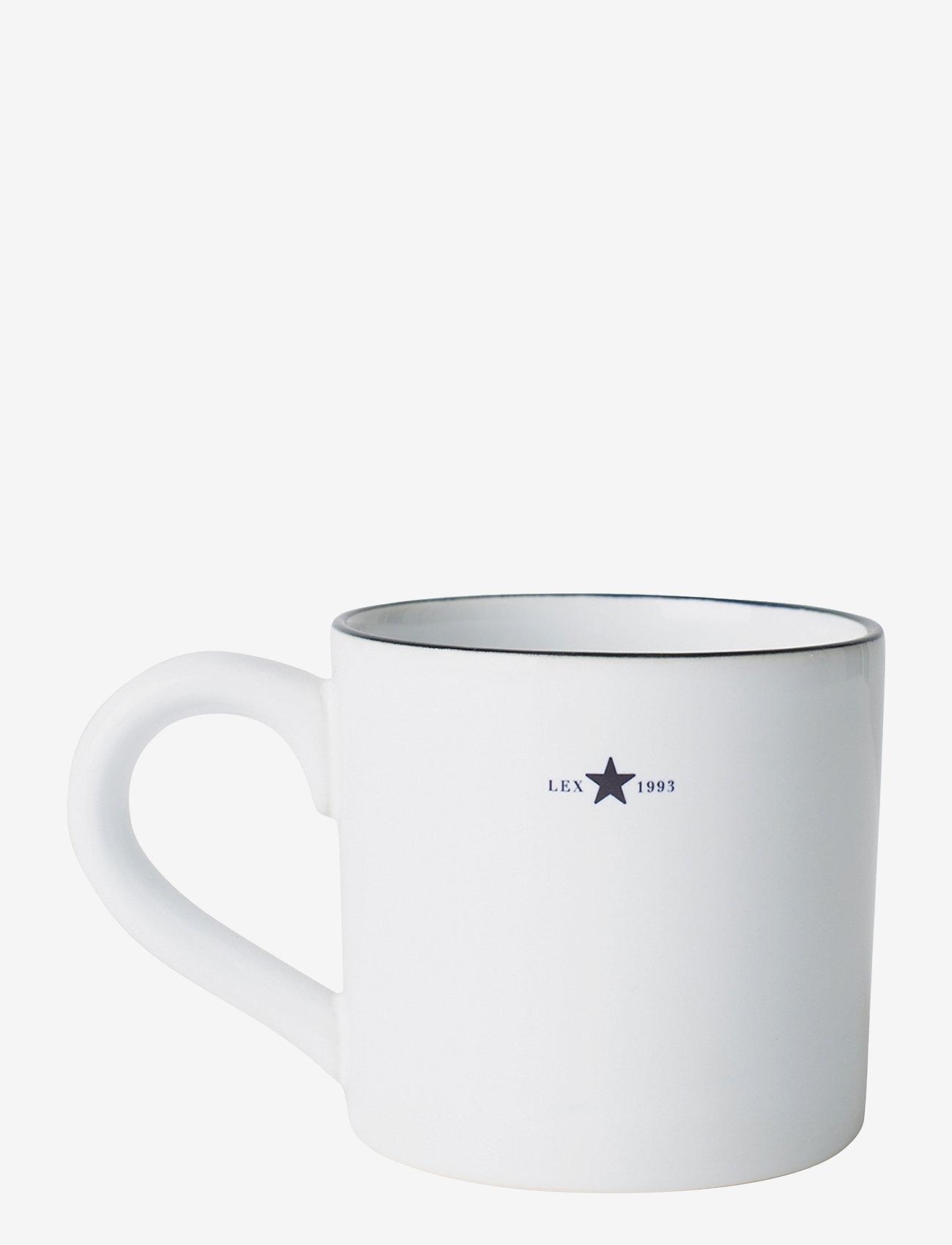 Lexington Home - Stoneware Mug - kahvikupit - white/dk blue - 0