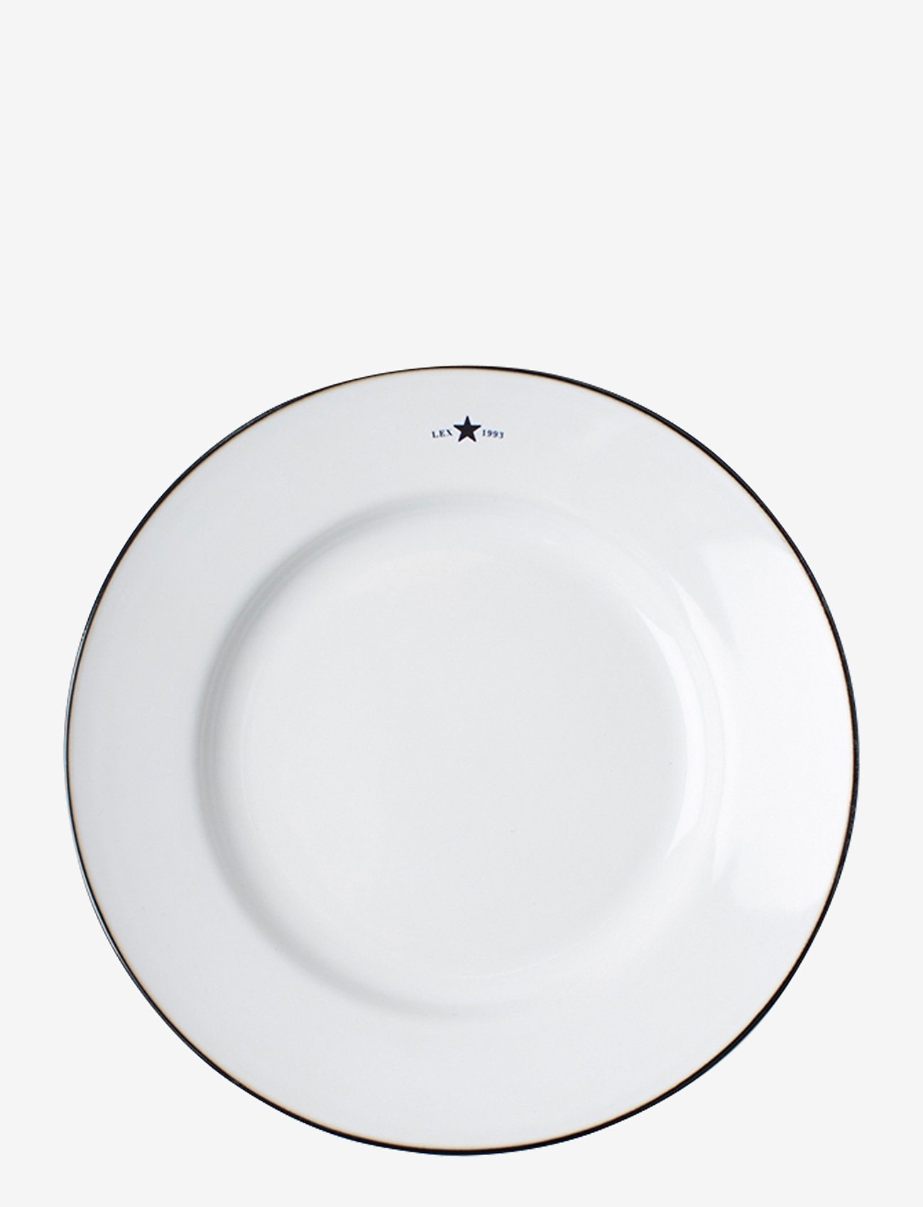 Lexington Home - Stoneware Dessert Plate - assiettes à dessert - white/dk blue - 0