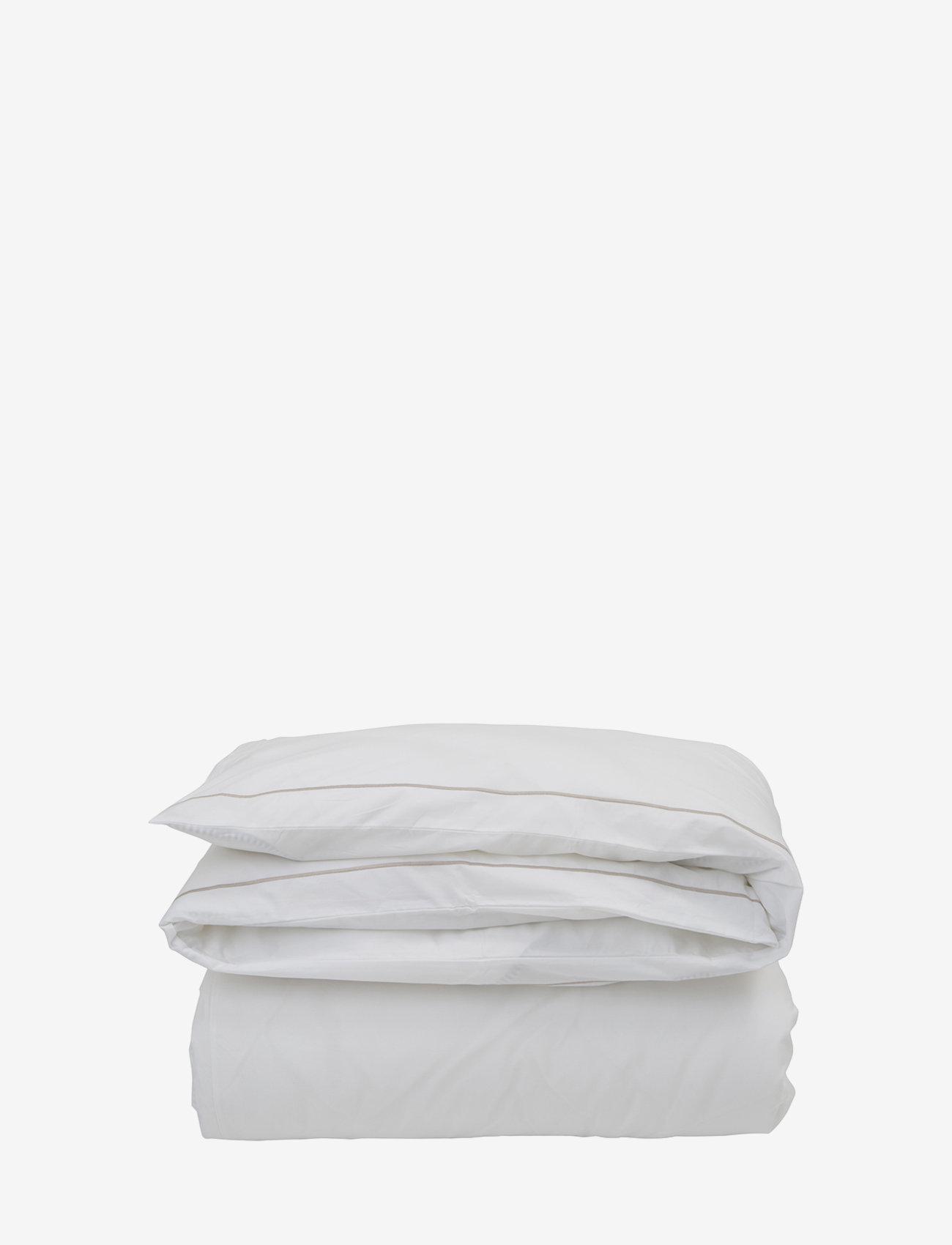 Lexington Home - Hotel Percale White/Lt Beige Duvet - housses de couette - white/lt beige - 0