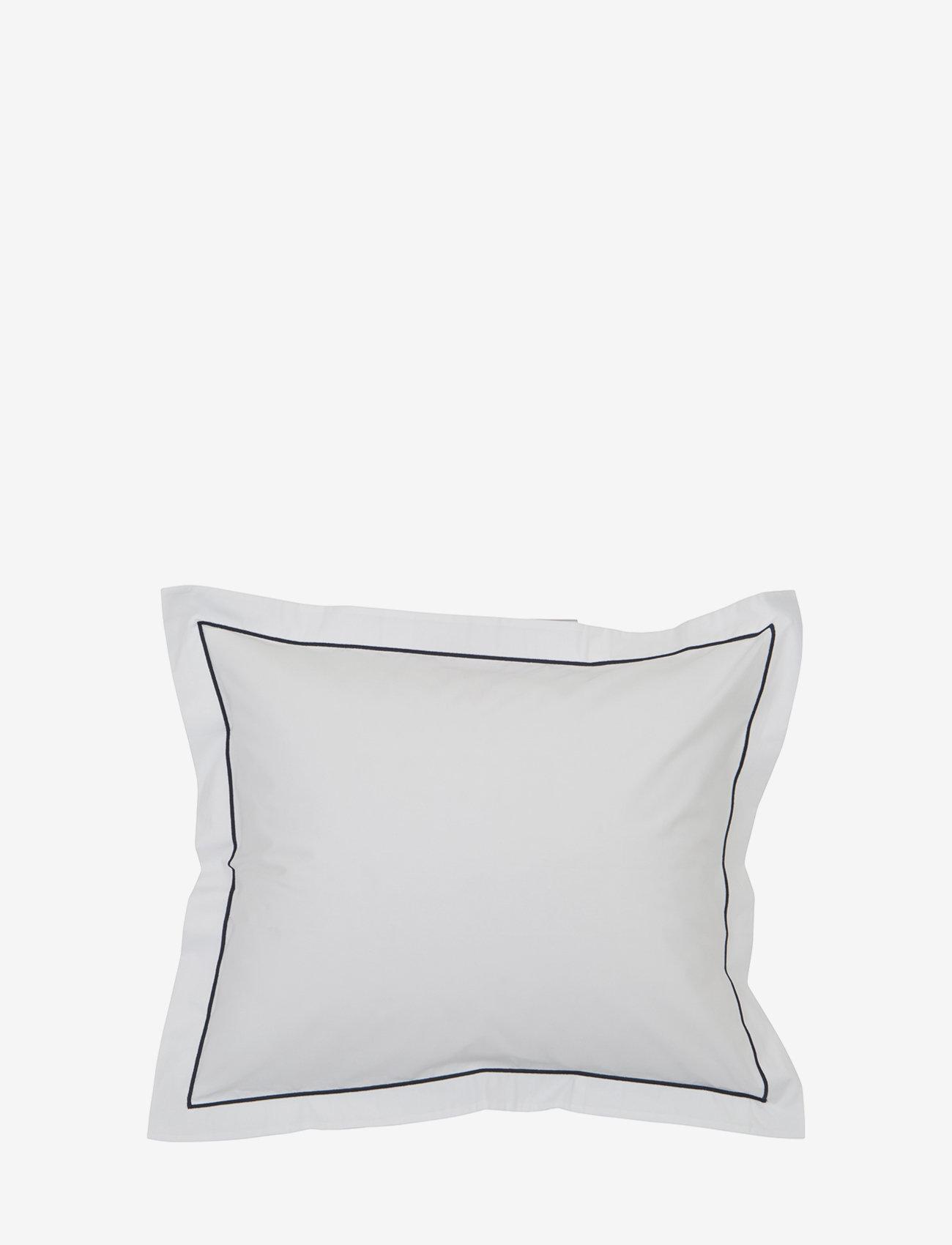 Lexington Home - Hotel Percale White/Blue Pillowcase - taies d'oreiller - white/blue - 0