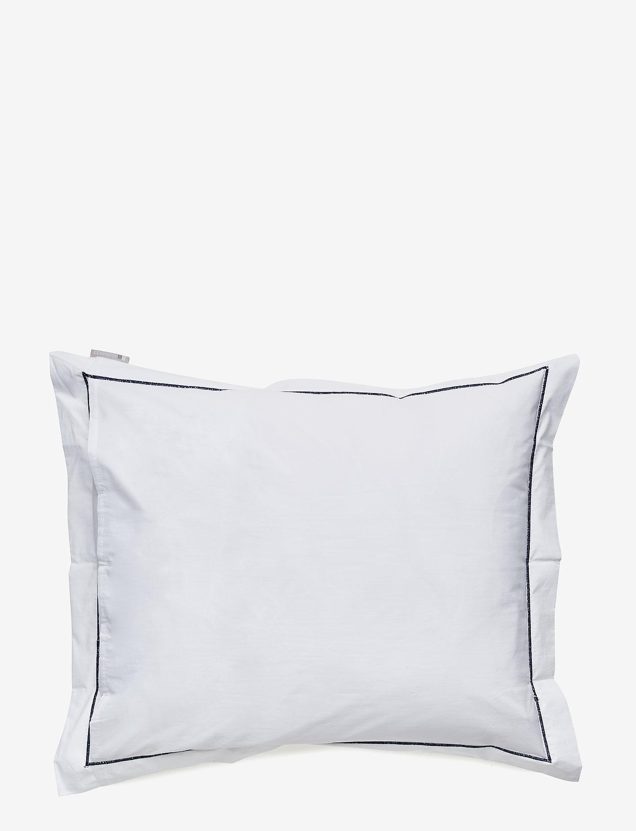Lexington Home - Hotel Percale White/Blue Pillowcase - taies d'oreiller - white/blue - 1