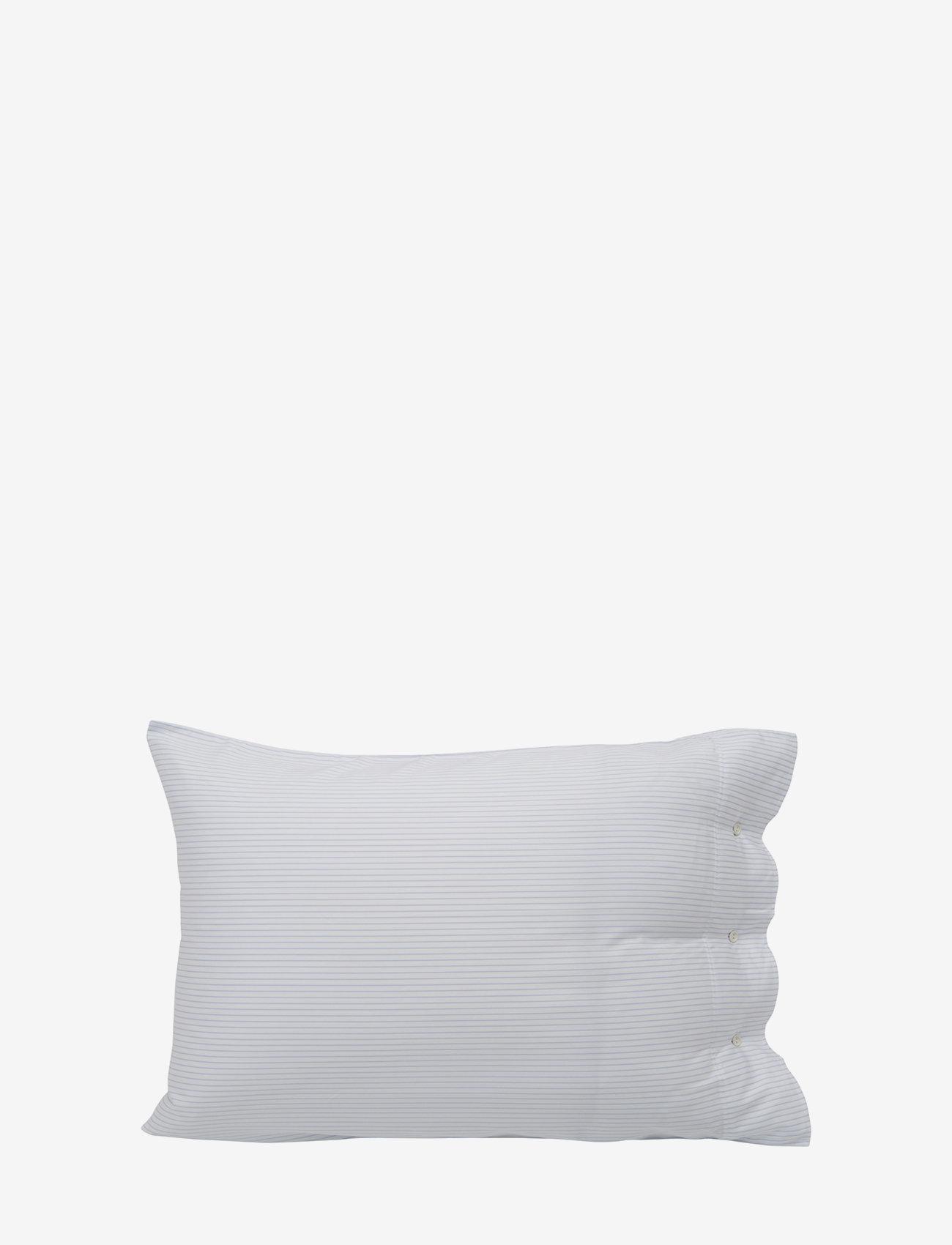 Lexington Home - Hotel Lyocell Stripe White/Blue Pillowcase - taies d'oreiller - white/blue - 0