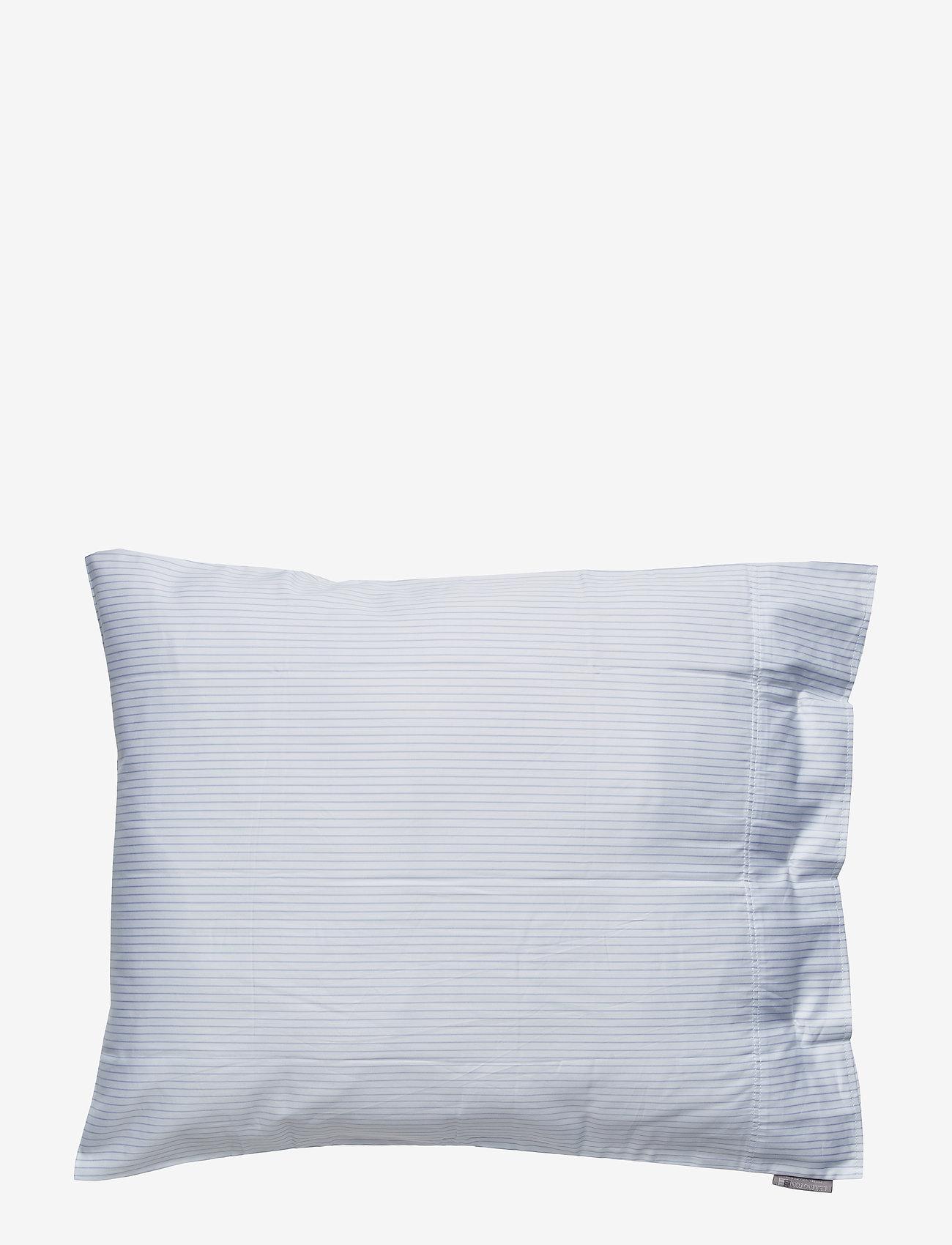 Lexington Home - Hotel Lyocell Stripe White/Blue Pillowcase - taies d'oreiller - white/blue - 1