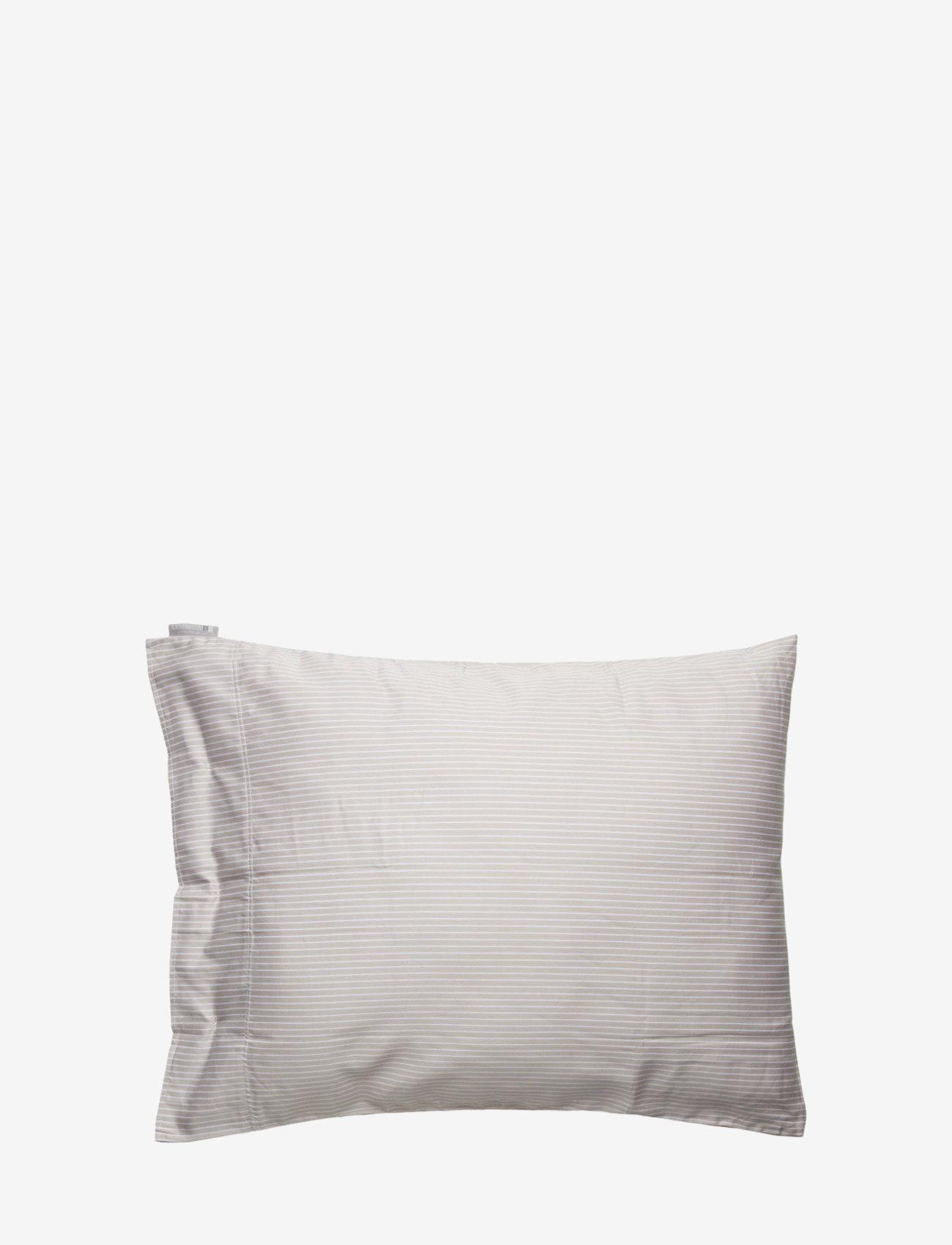 Lexington Home - Hotel Lyocell Stripe Lt Beige/White Pillowcase - taies d'oreiller - lt beige/white - 0