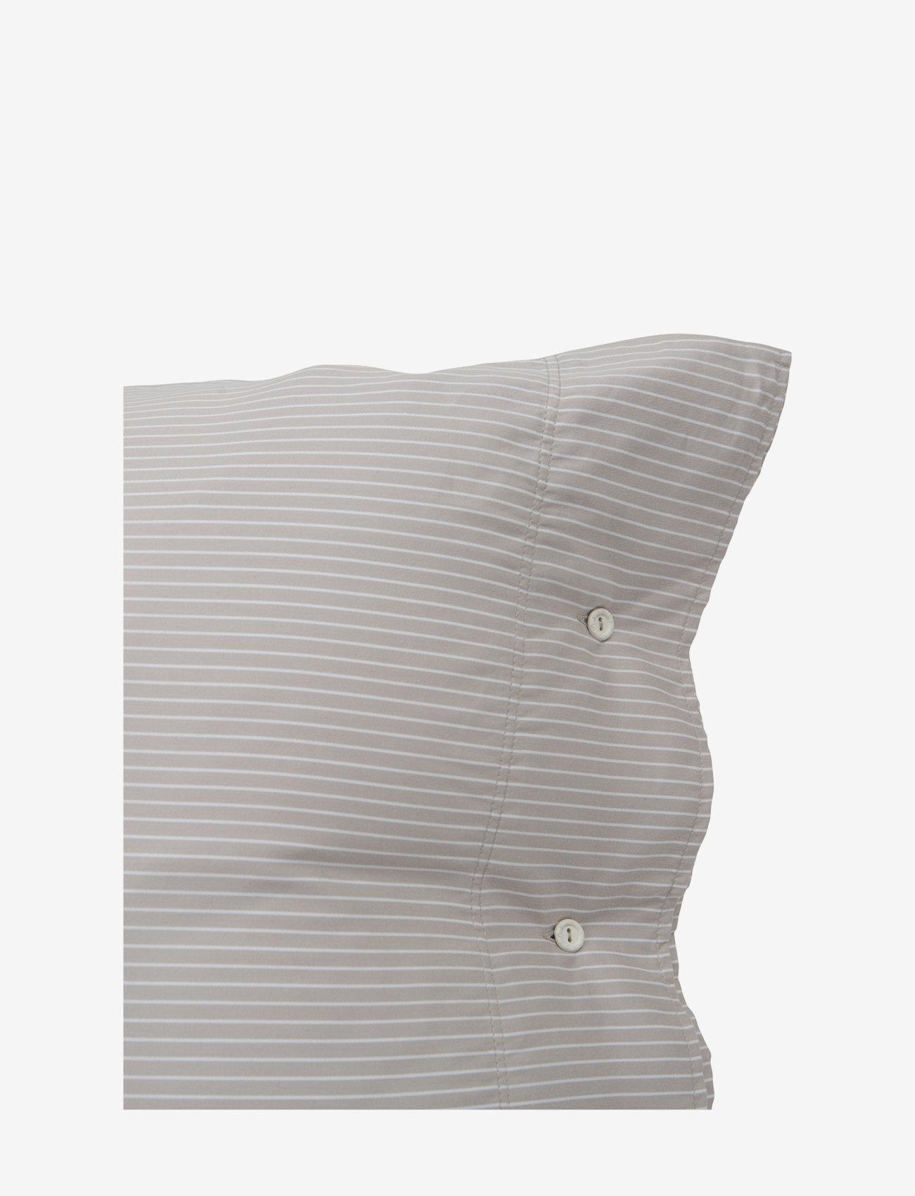 Lexington Home - Hotel Lyocell Stripe Lt Beige/White Pillowcase - taies d'oreiller - lt beige/white - 1