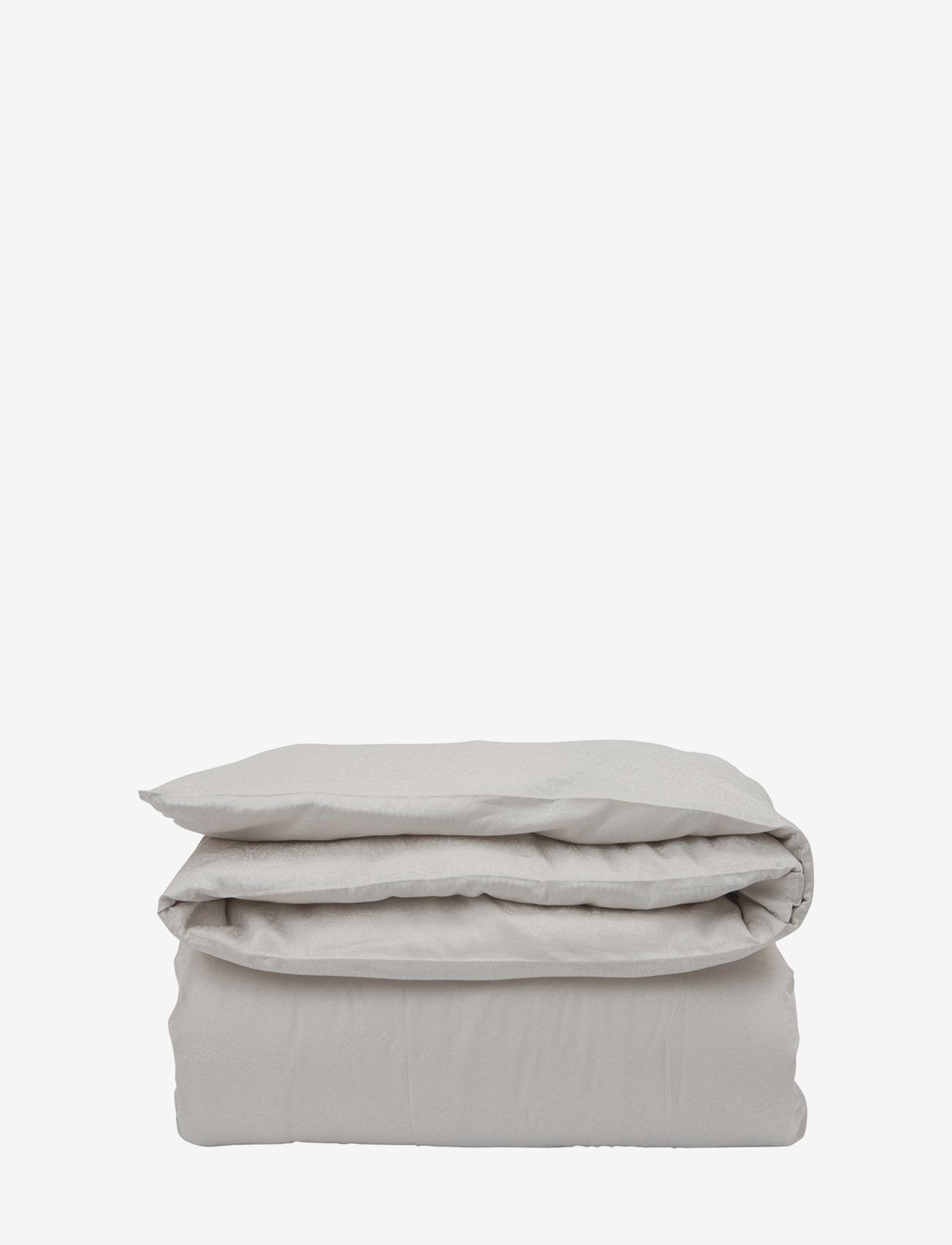 Lexington Home - Hotel Lyocell Stripe Lt Beige/White Duvet - housses de couette - lt beige/white - 0