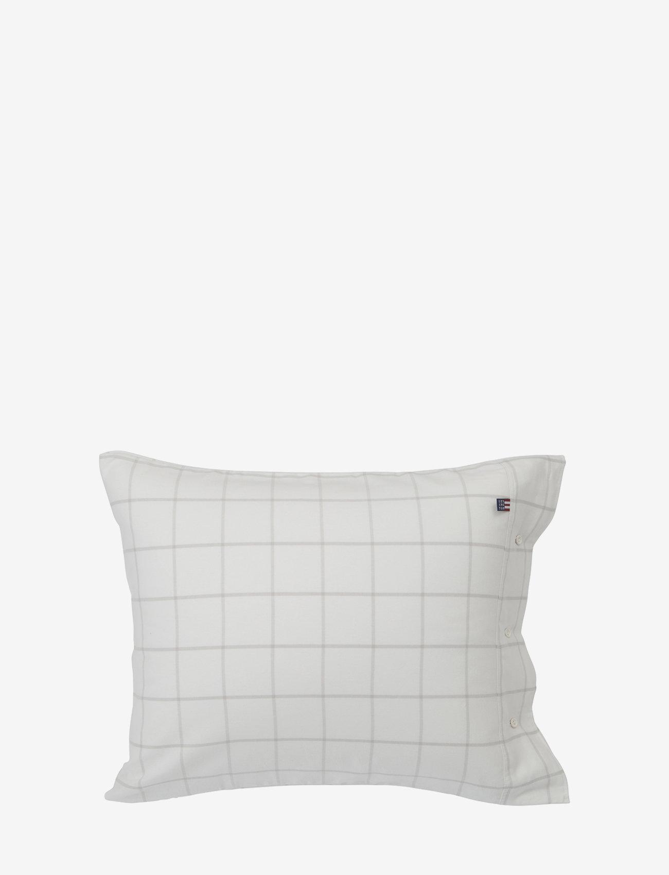 Lexington Home - Hotel Light Flannel White/Lt Beige Pillowcase - white/lt beige - 0