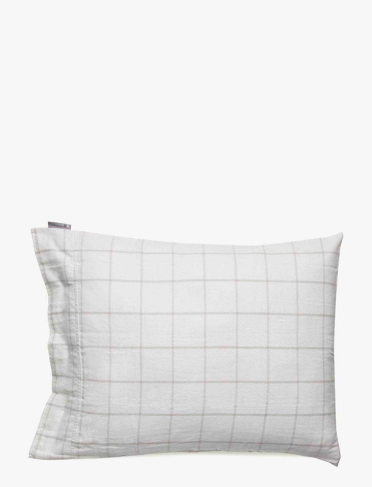 Lexington Home - Hotel Light Flannel White/Lt Beige Pillowcase - white/lt beige - 1