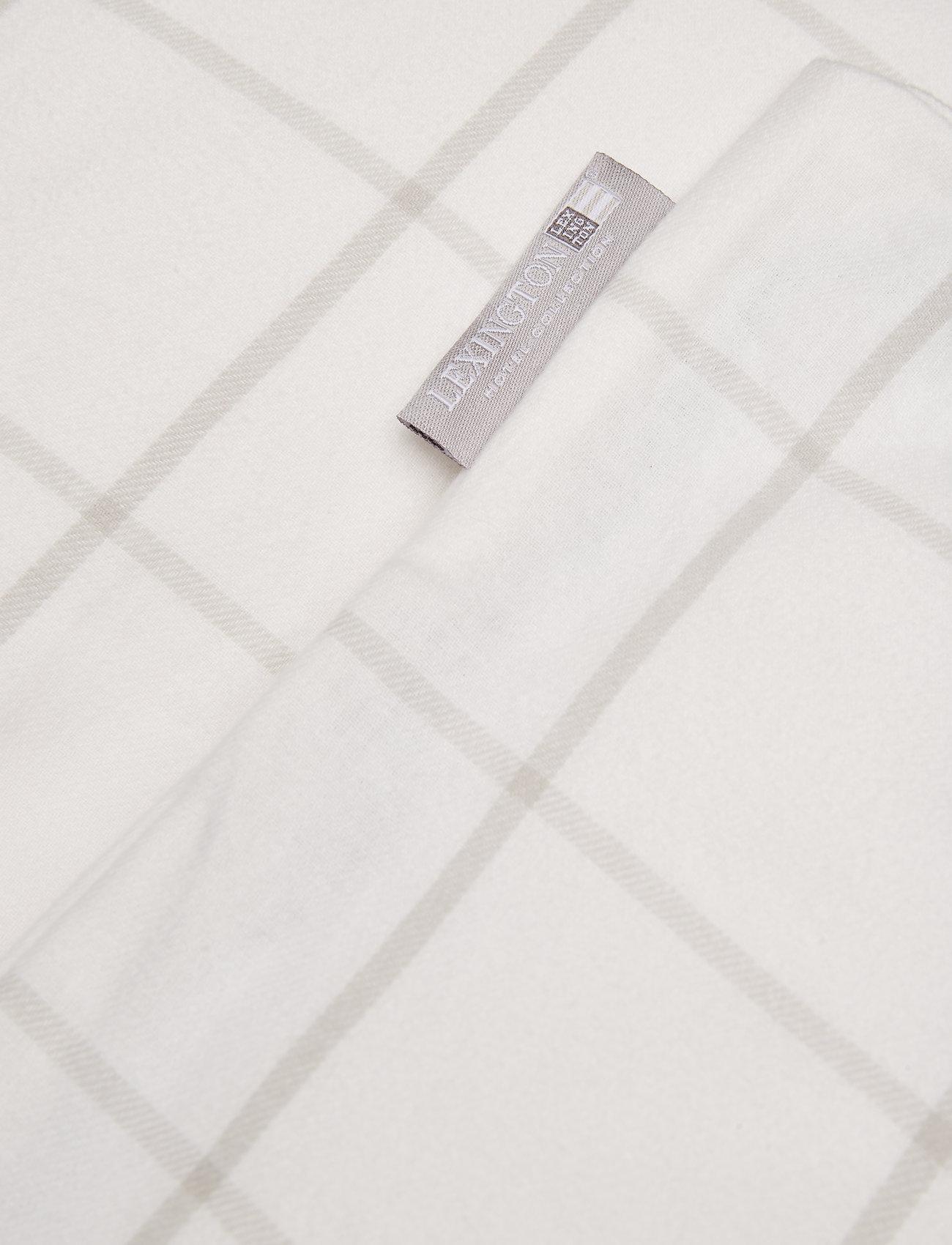 Lexington Home - Hotel Light Flannel White/Lt Beige Duvet - housses de couette - white/lt beige - 1
