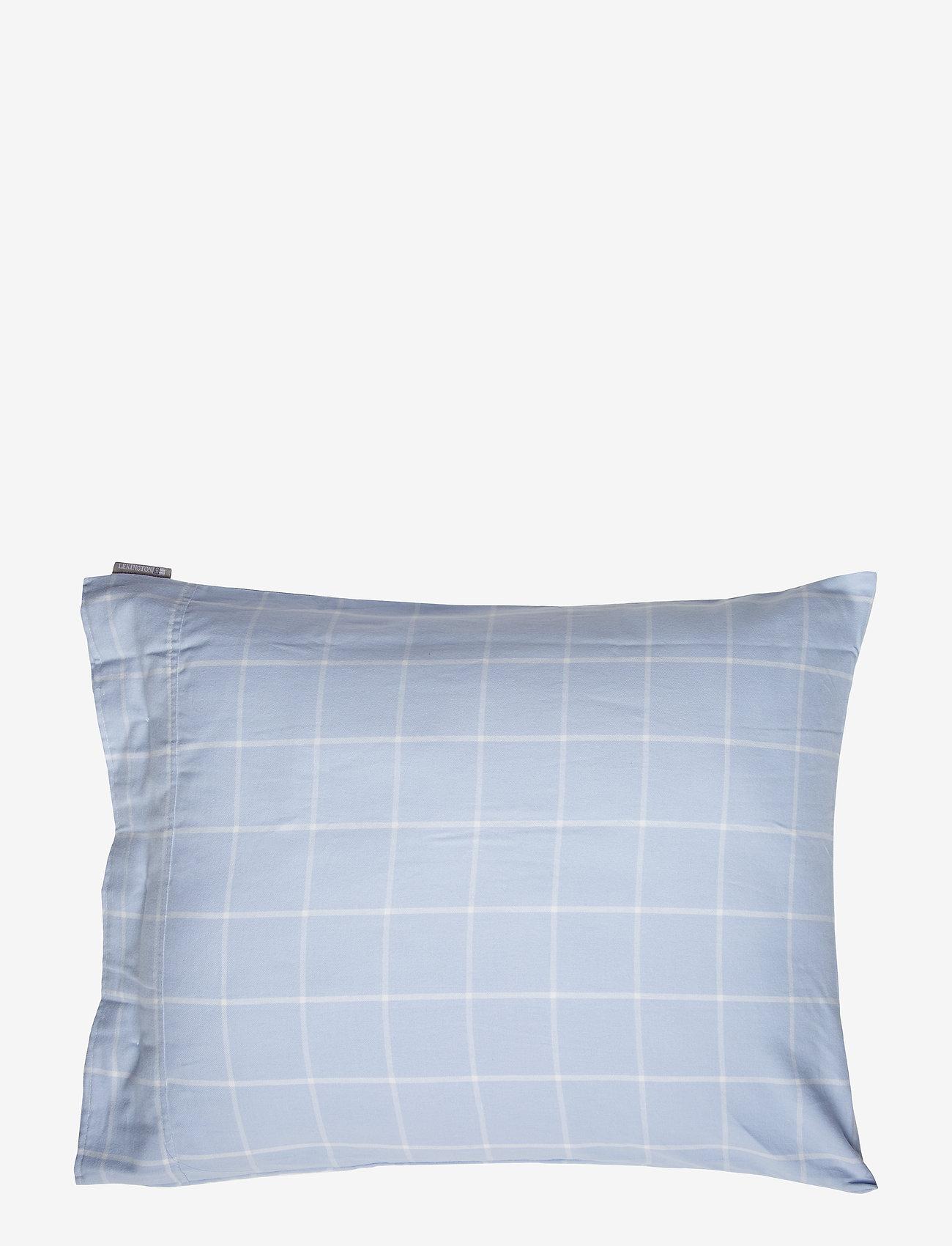 Lexington Home - Hotel Light Flannel Lt Blue/White Pillowcase - taies d'oreiller - lt blue/white - 1