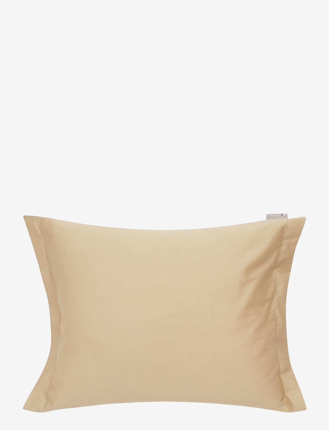 Lexington Home - Hotel Cotton Sateen Lt Beige Pillowcase - taies d'oreiller - lt beige - 0