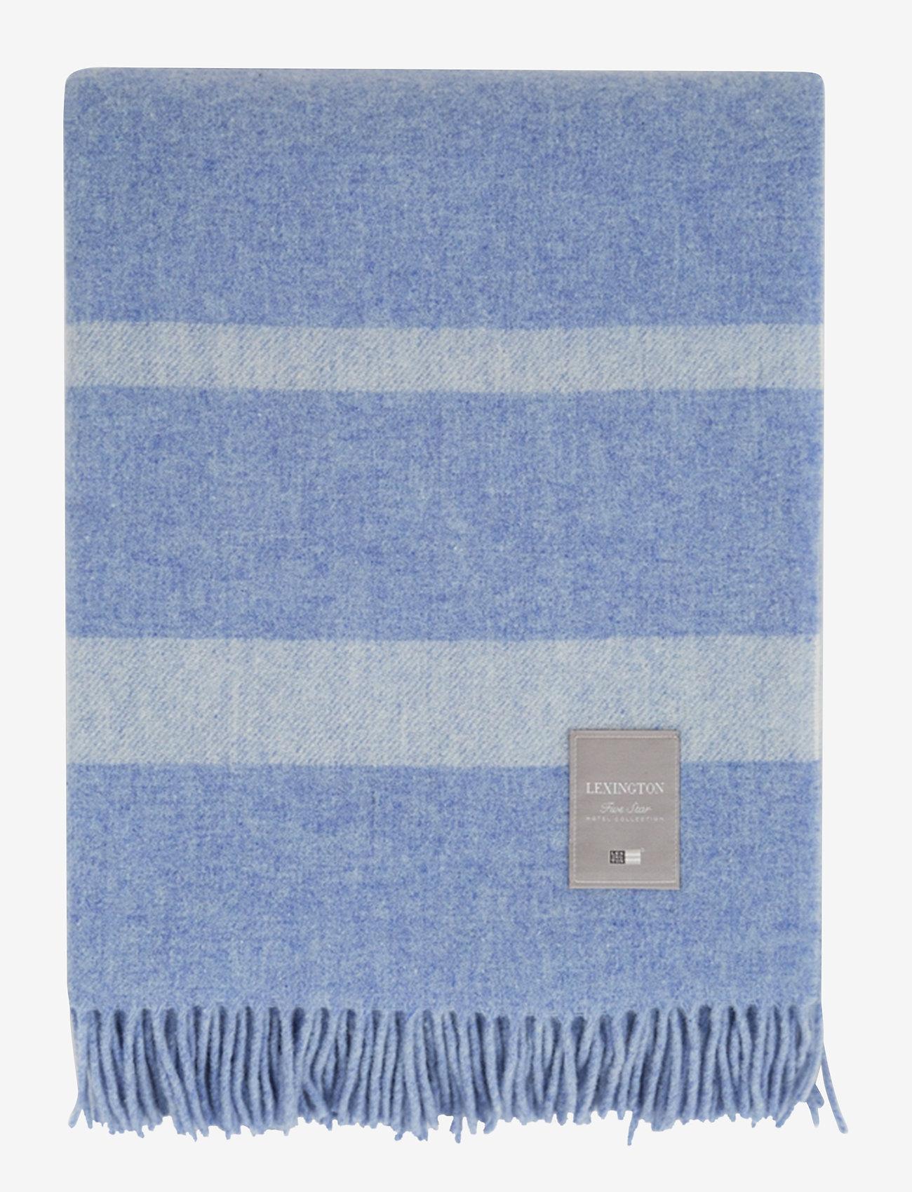 Lexington Home - Hotel Wool Throw - viltit - blue/white - 0