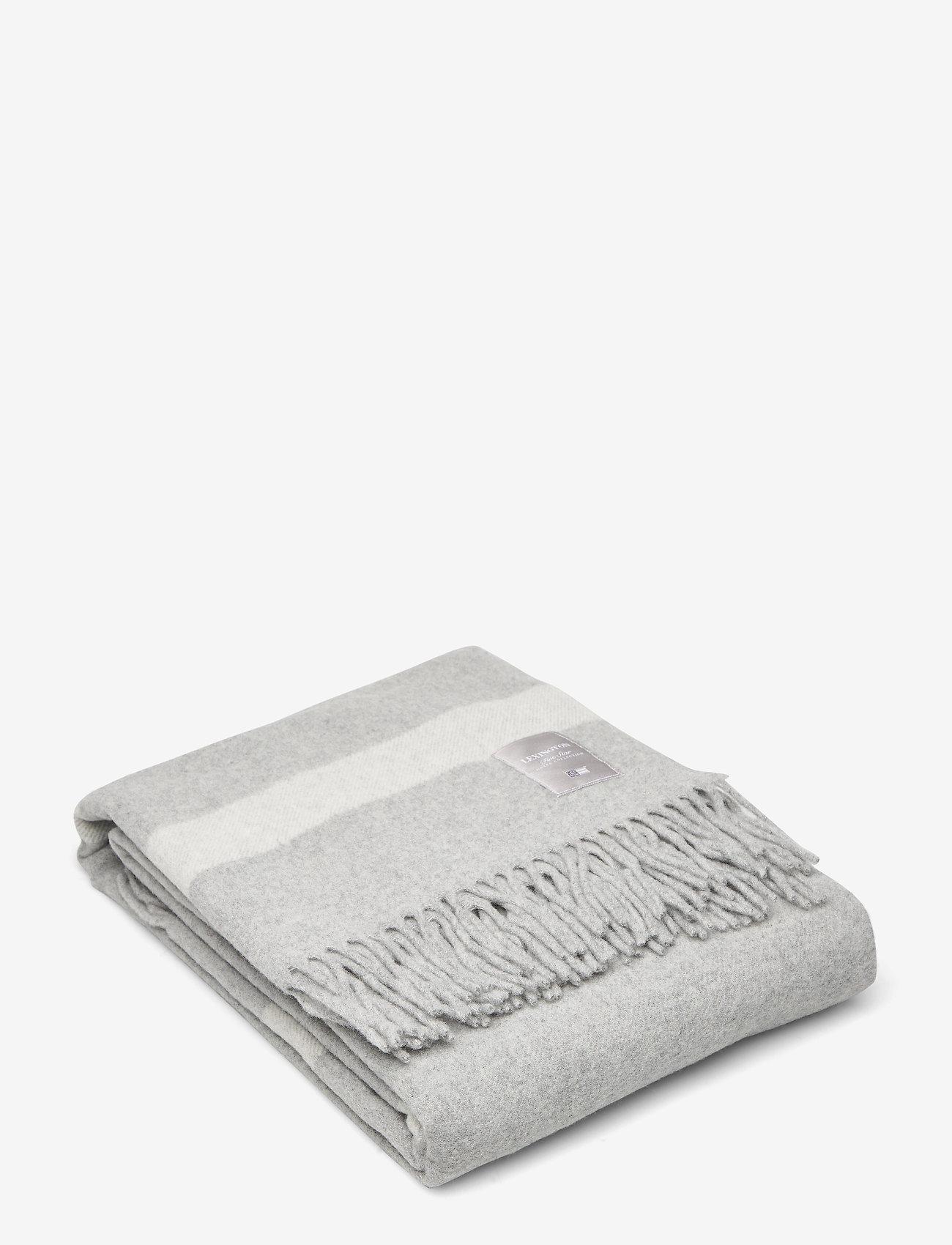 Lexington Home - Hotel Wool Throw - plaids - gray/white - 0
