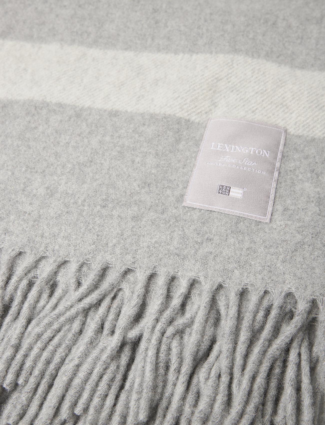 Lexington Home - Hotel Wool Throw - plaids - gray/white - 1