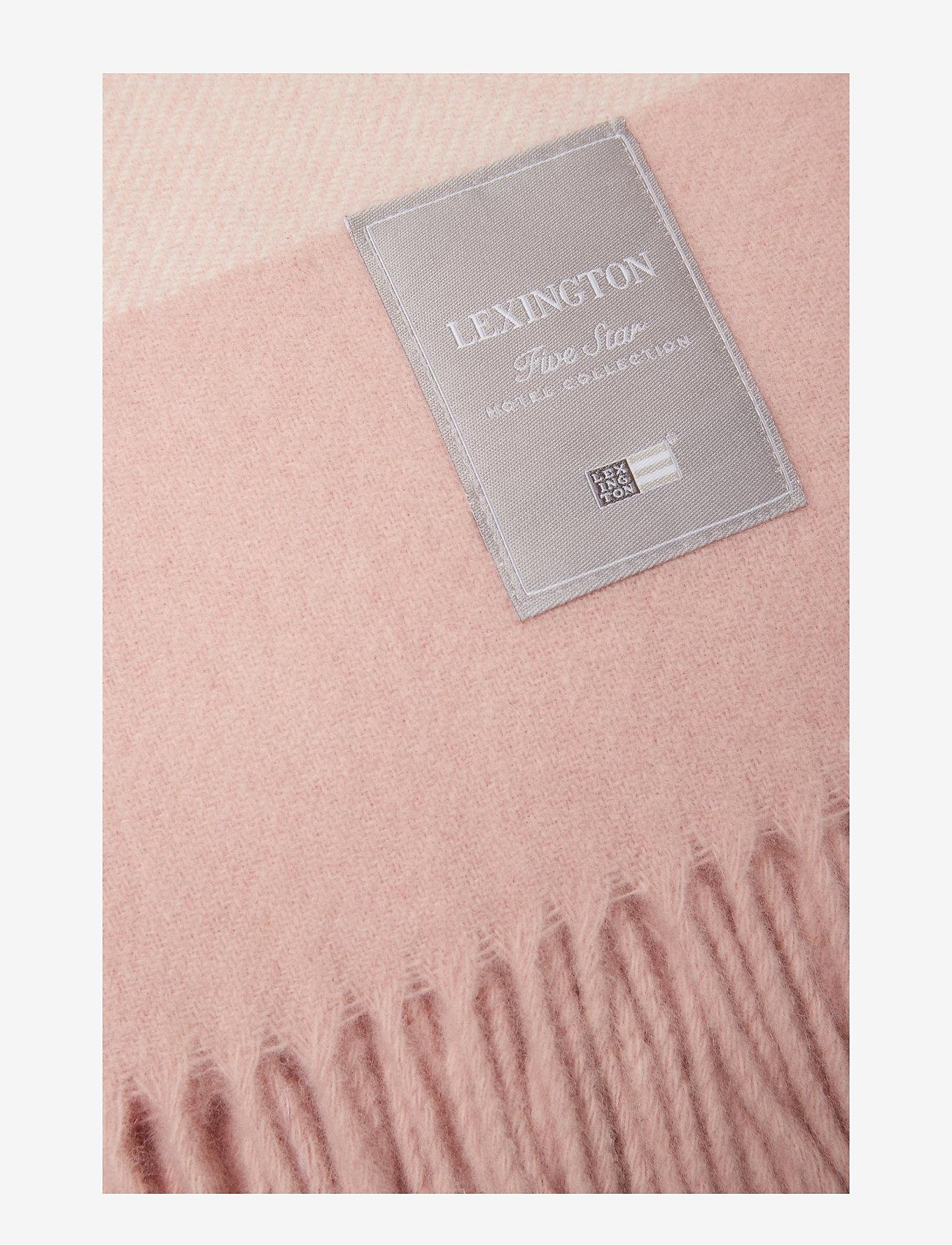 Lexington Home - Hotel Wool Throw - viltit - pink/white - 1