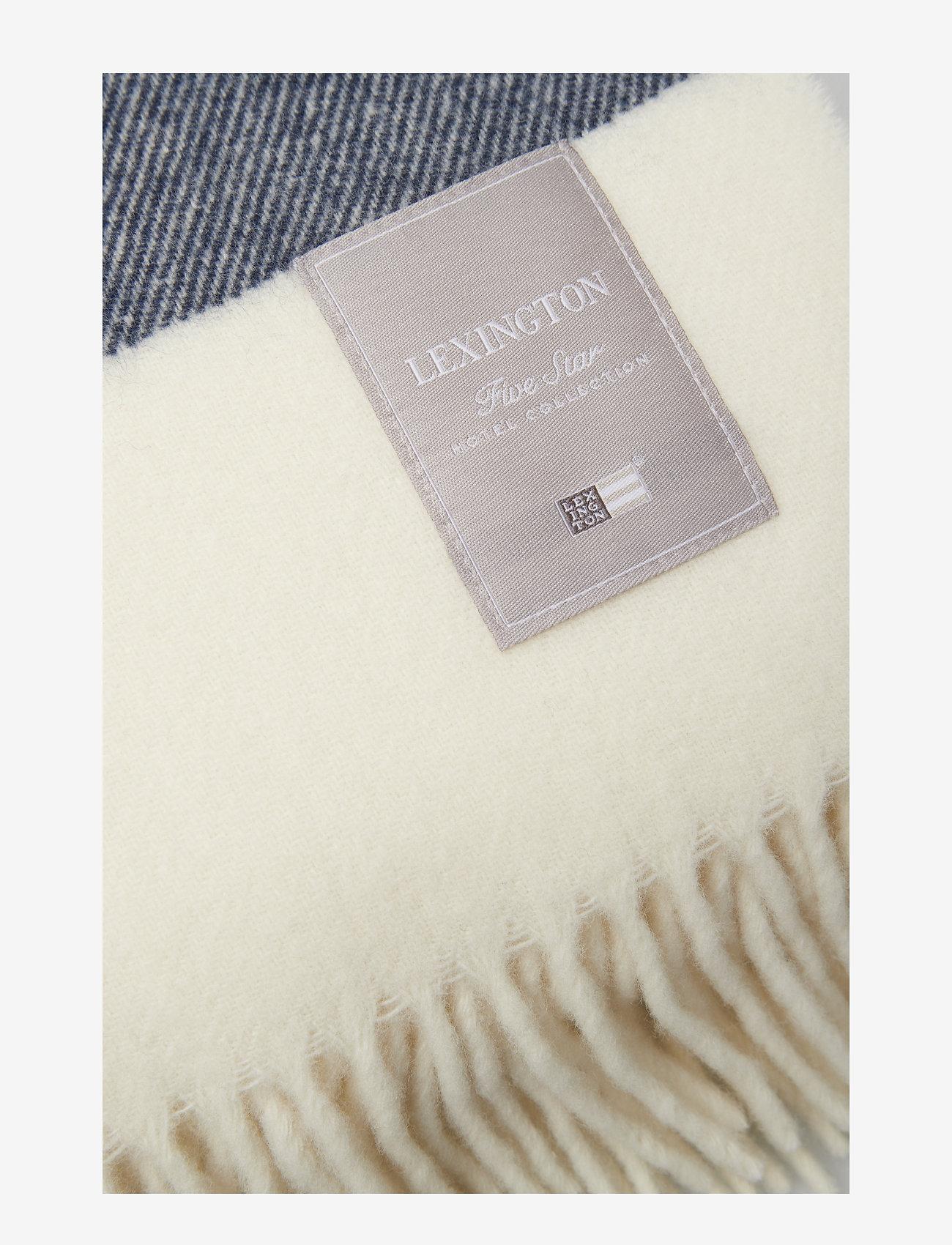 Lexington Home - Hotel Wool Throw - plaids - white/blue - 1