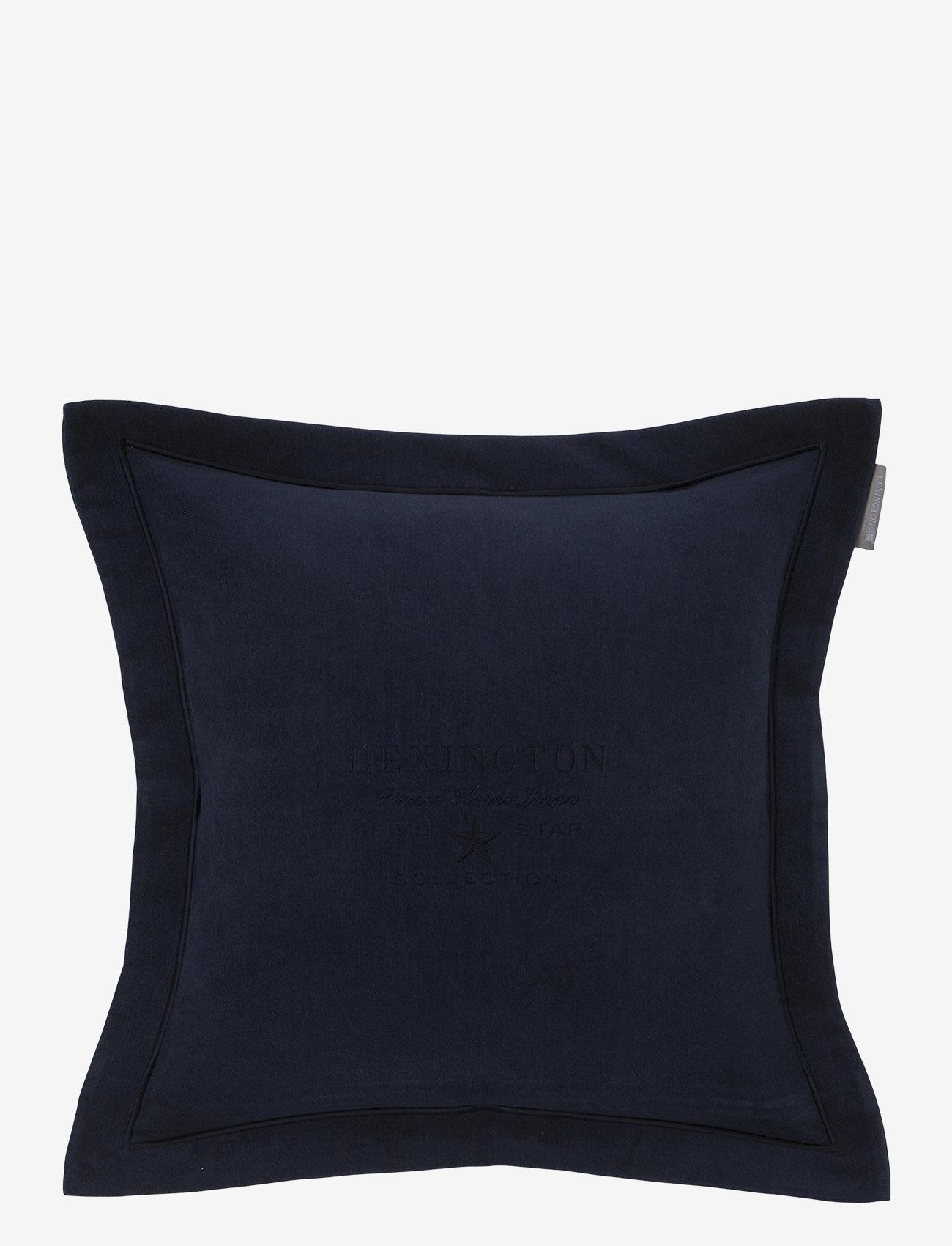 Lexington Home - Hotel Velvet Sham with Embroidery - tyynyliinat - dk. blue - 0