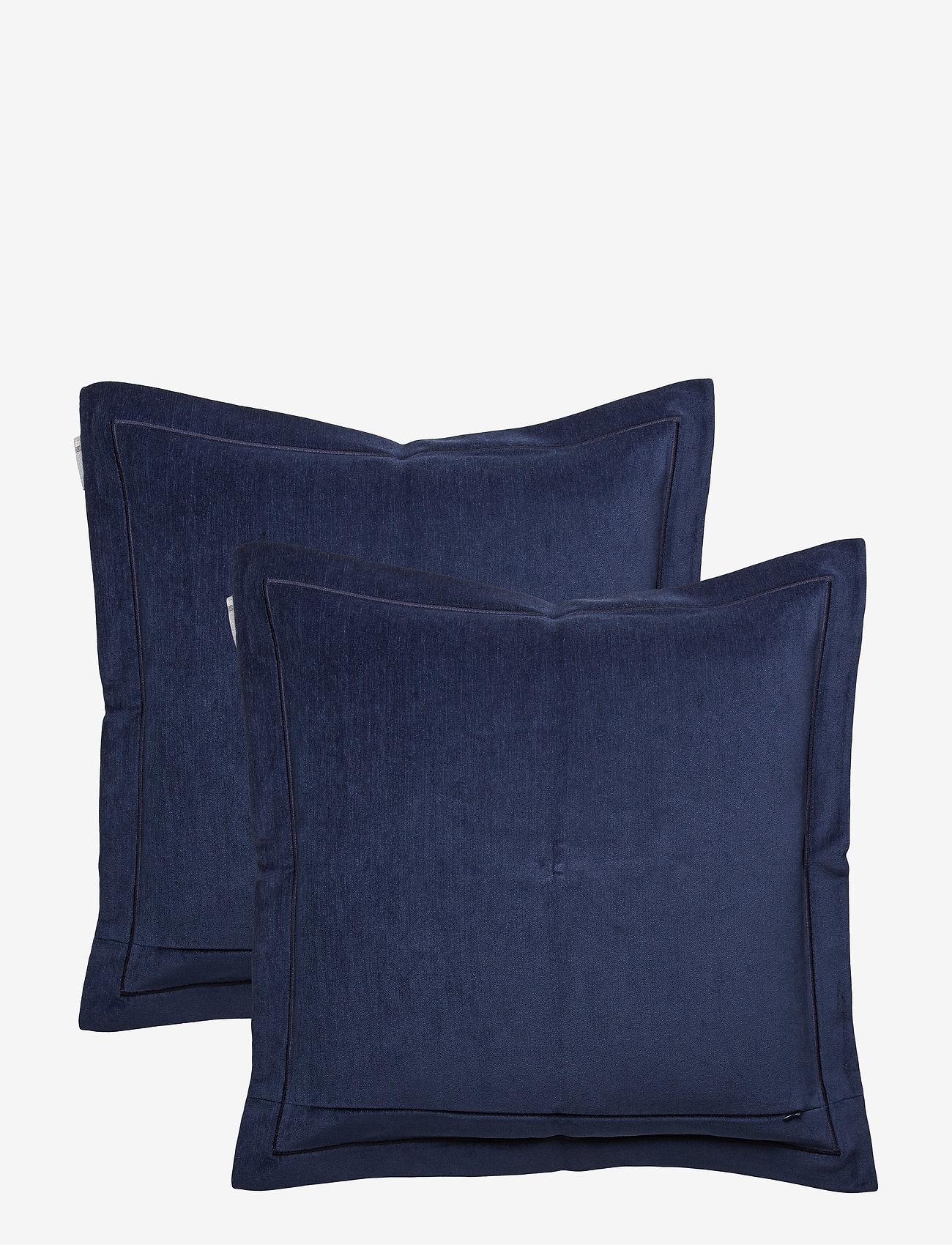 Lexington Home - Hotel Velvet Sham with Embroidery - tyynyliinat - dk. blue - 1
