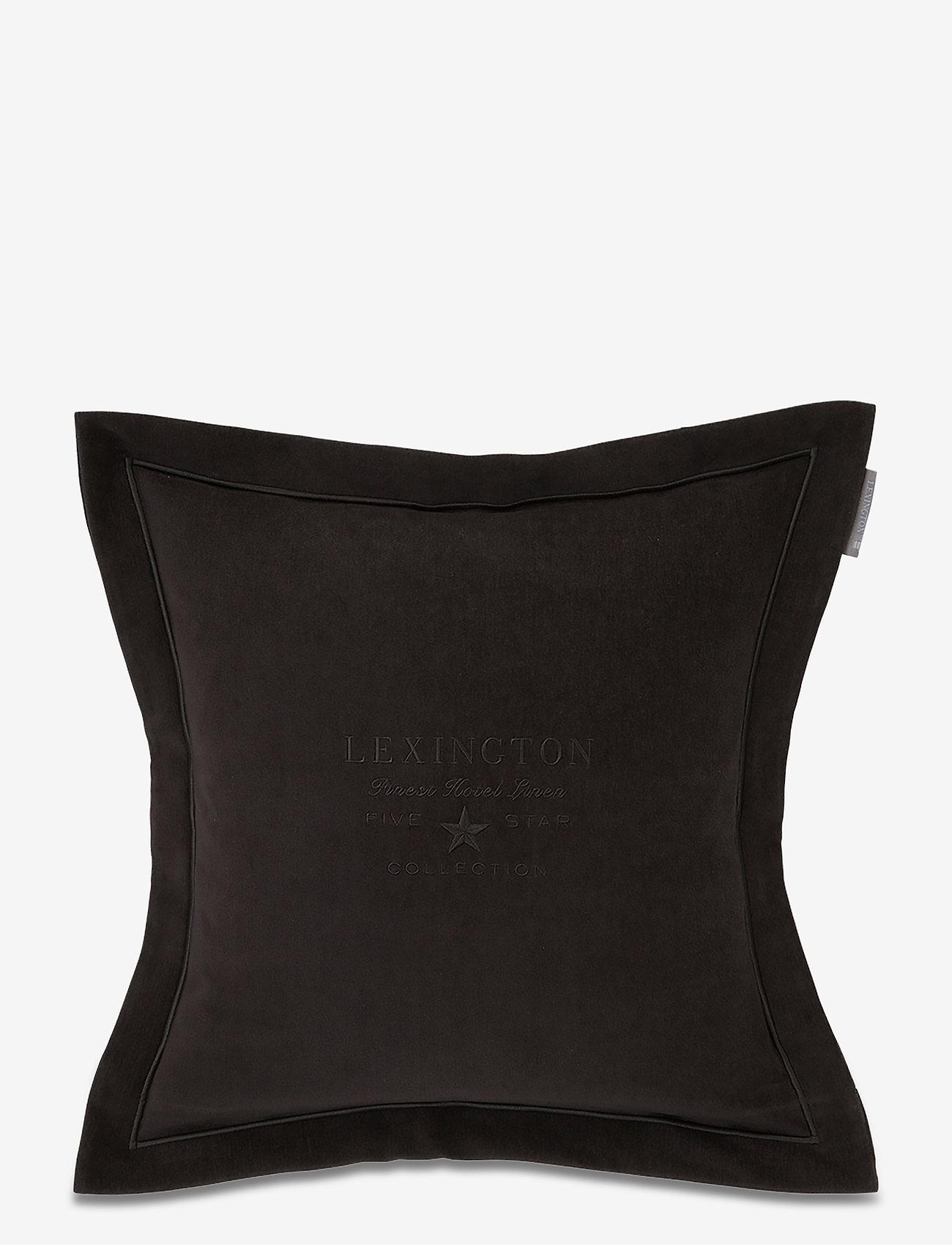 Lexington Home - Hotel Velvet Sham with Embroidery - tyynyliinat - dk. gray - 0
