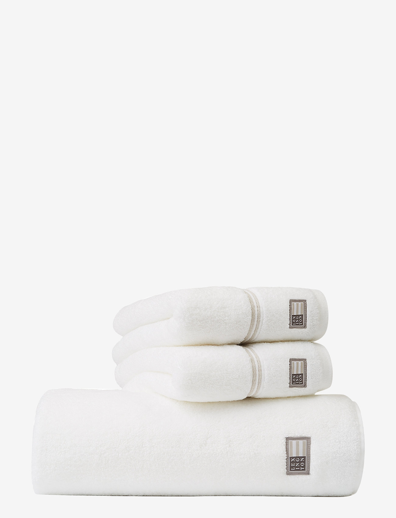Lexington Home - Lexington Hotel Towel White/Beige - pyyhkeet & kylpypyyhkeet - white/beige - 0