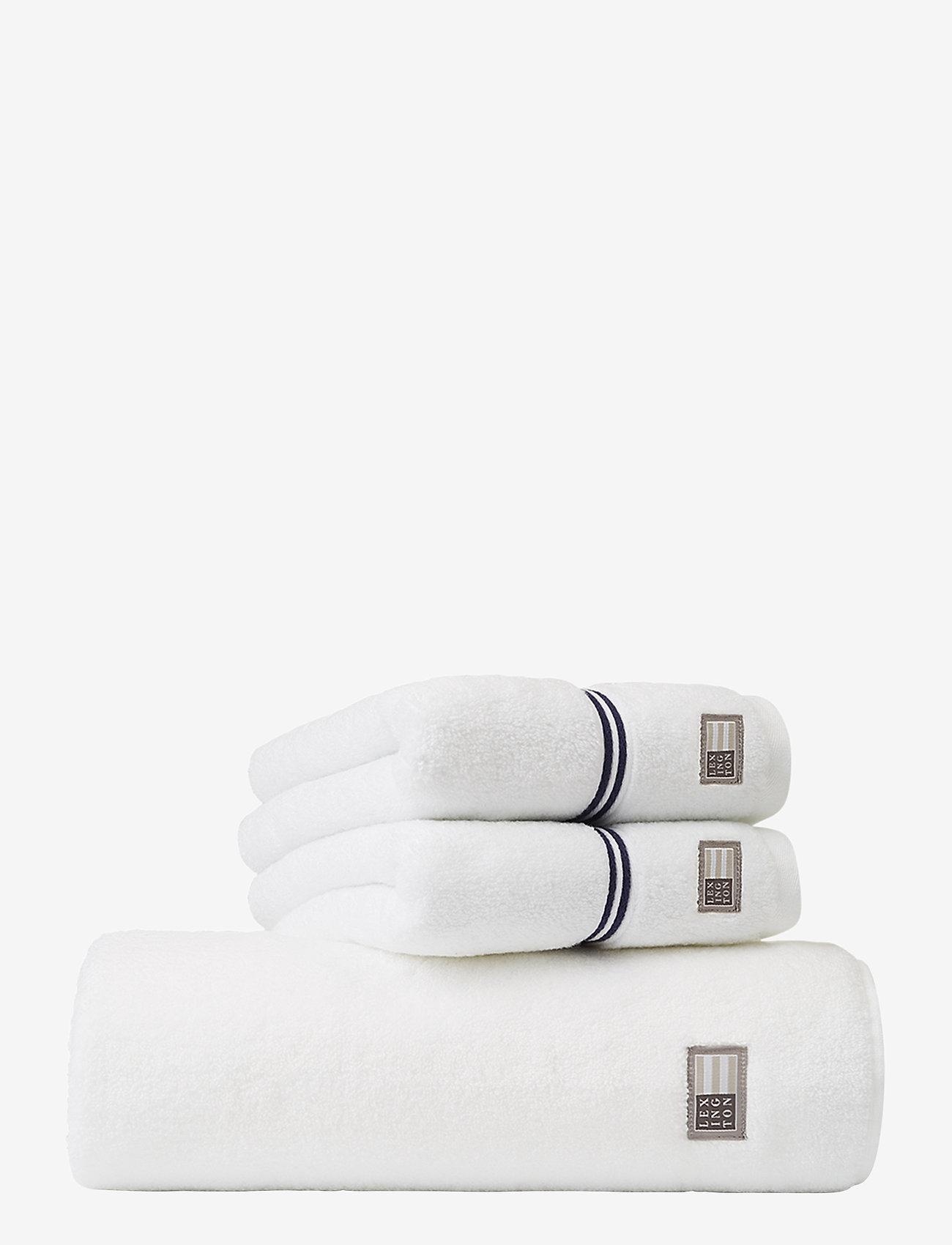 Lexington Home - Lexington Hotel Towel White/Blue - hand towels & bath towels - white/blue - 0