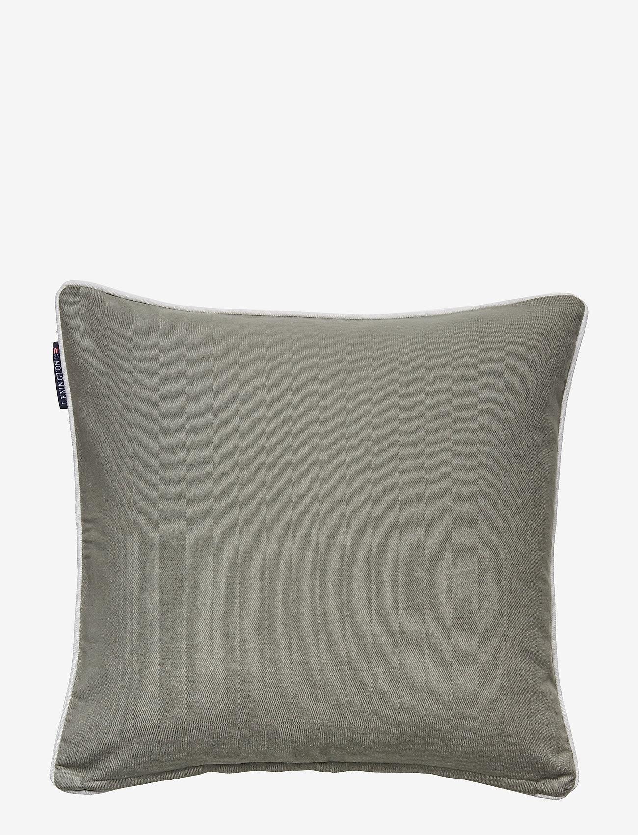 Lexington Home - Embroidery Striped Sham - poszewki na poduszki ozdobne - green/white - 1
