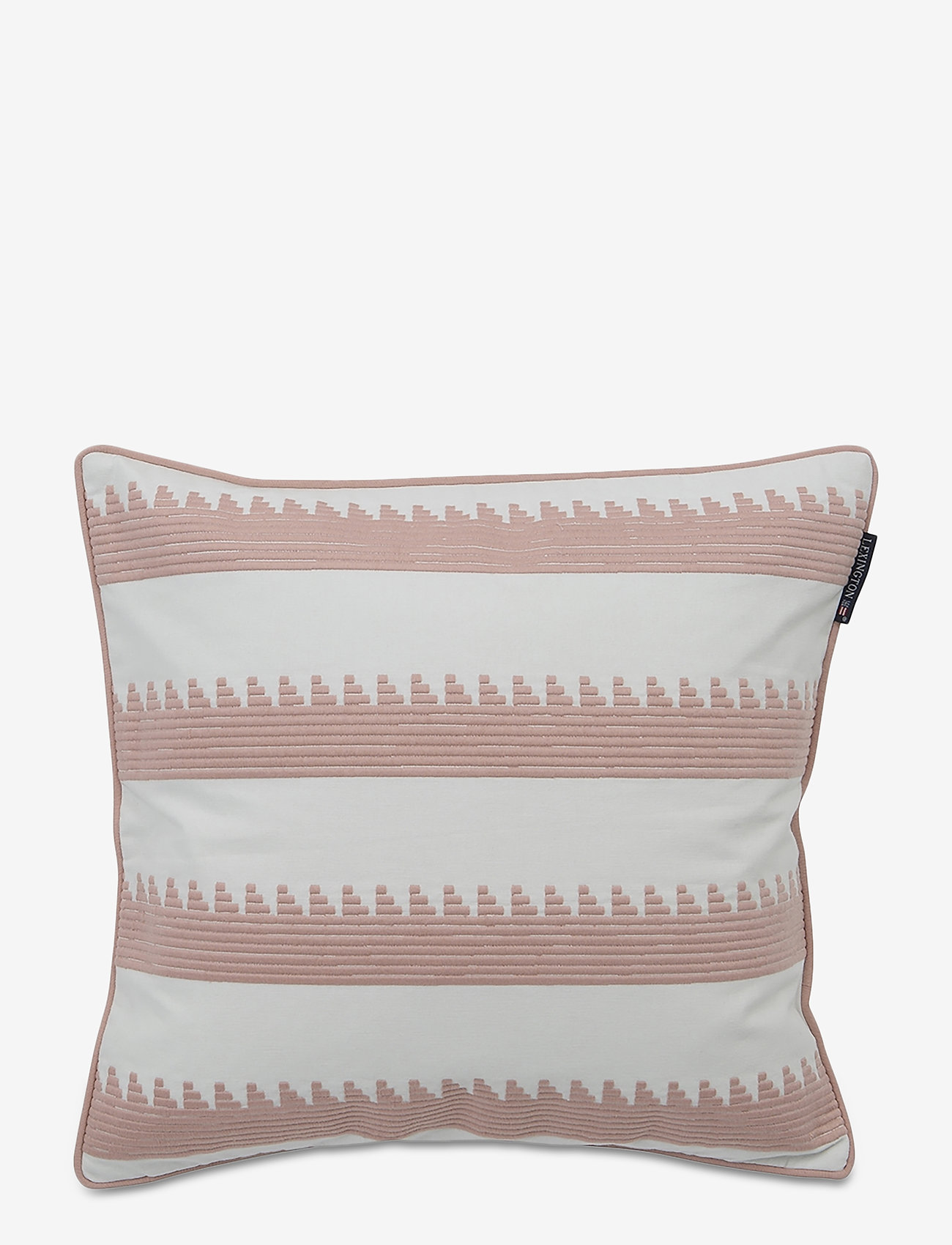 Lexington Home - Embroidery Striped Sham - tyynyliinat - pink/white - 0