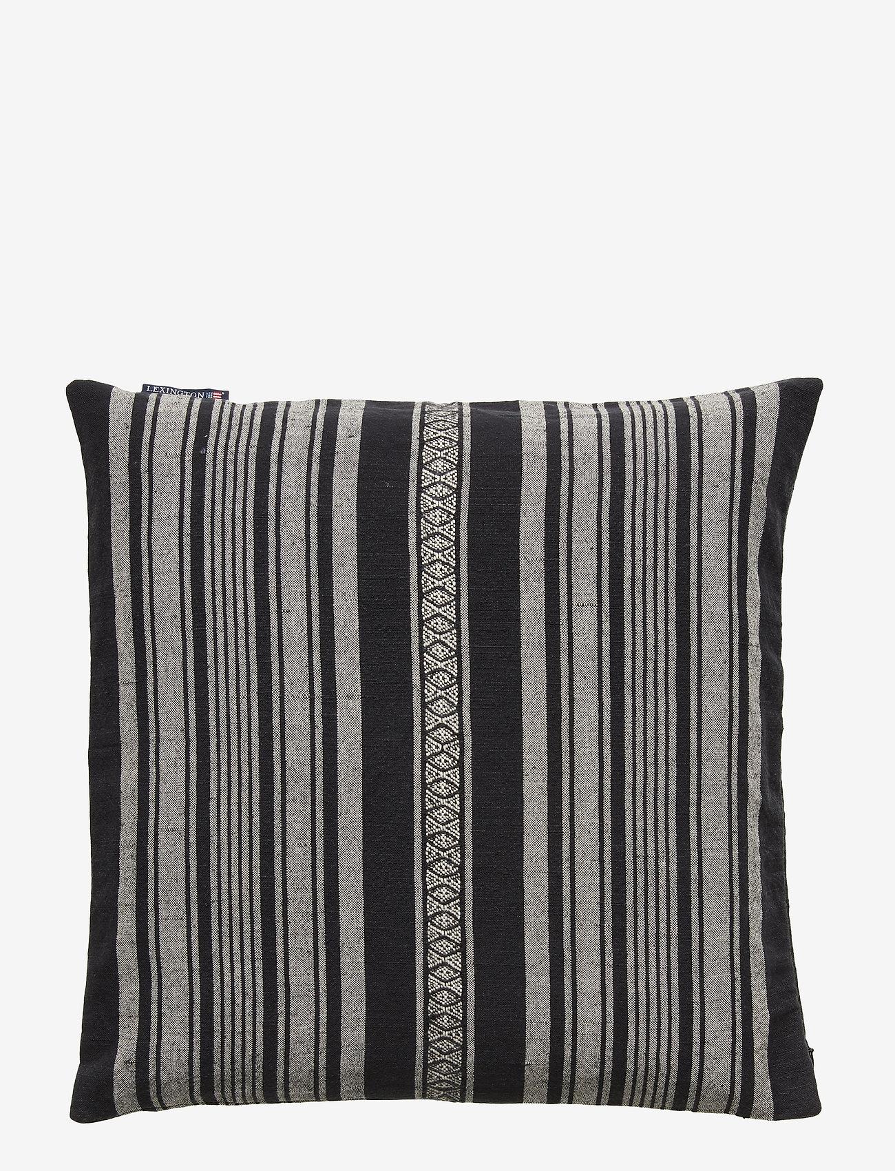 Lexington Home - Striped Linen Cotton Sham - pillowcases - dk. gray - 1