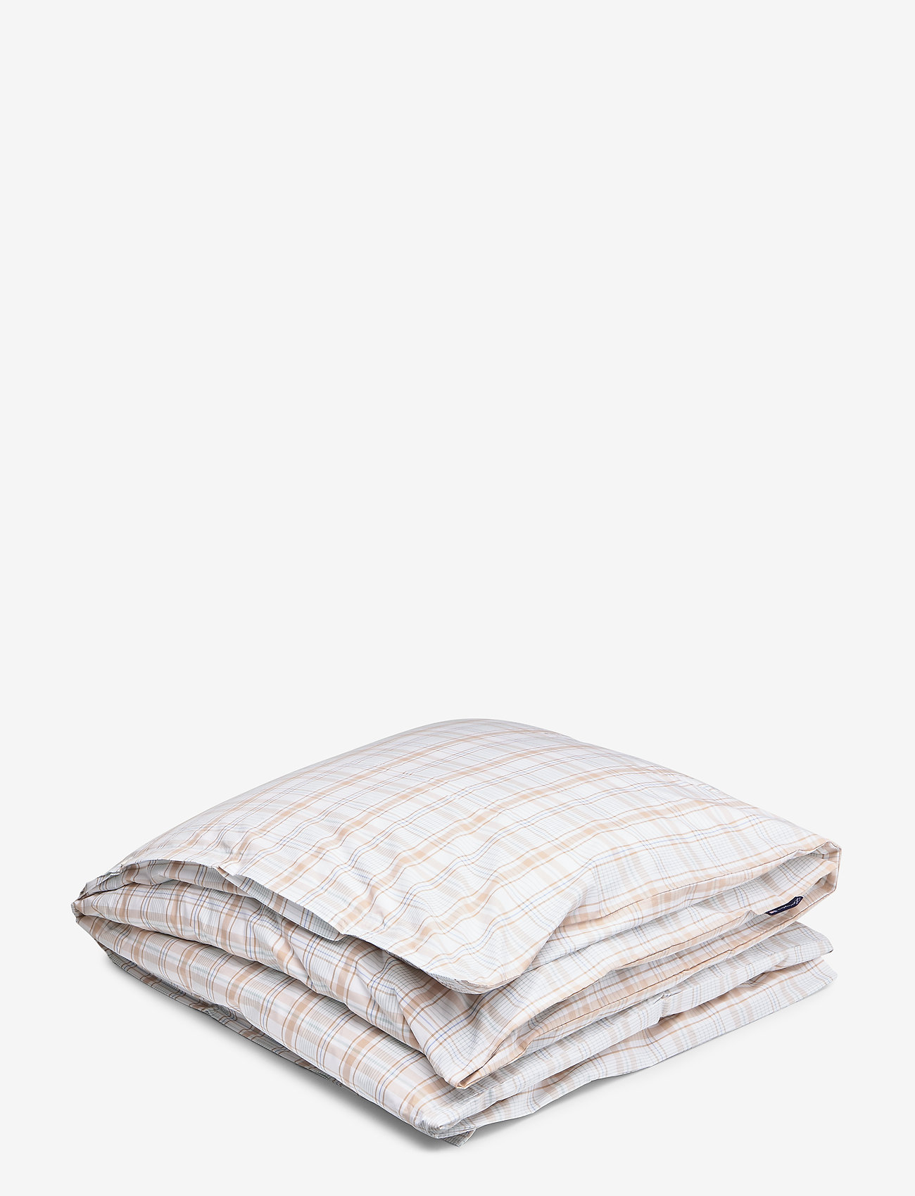 Lexington Home - Beige Checked Madras Poplin Duvet - duvet covers - white/beige - 0