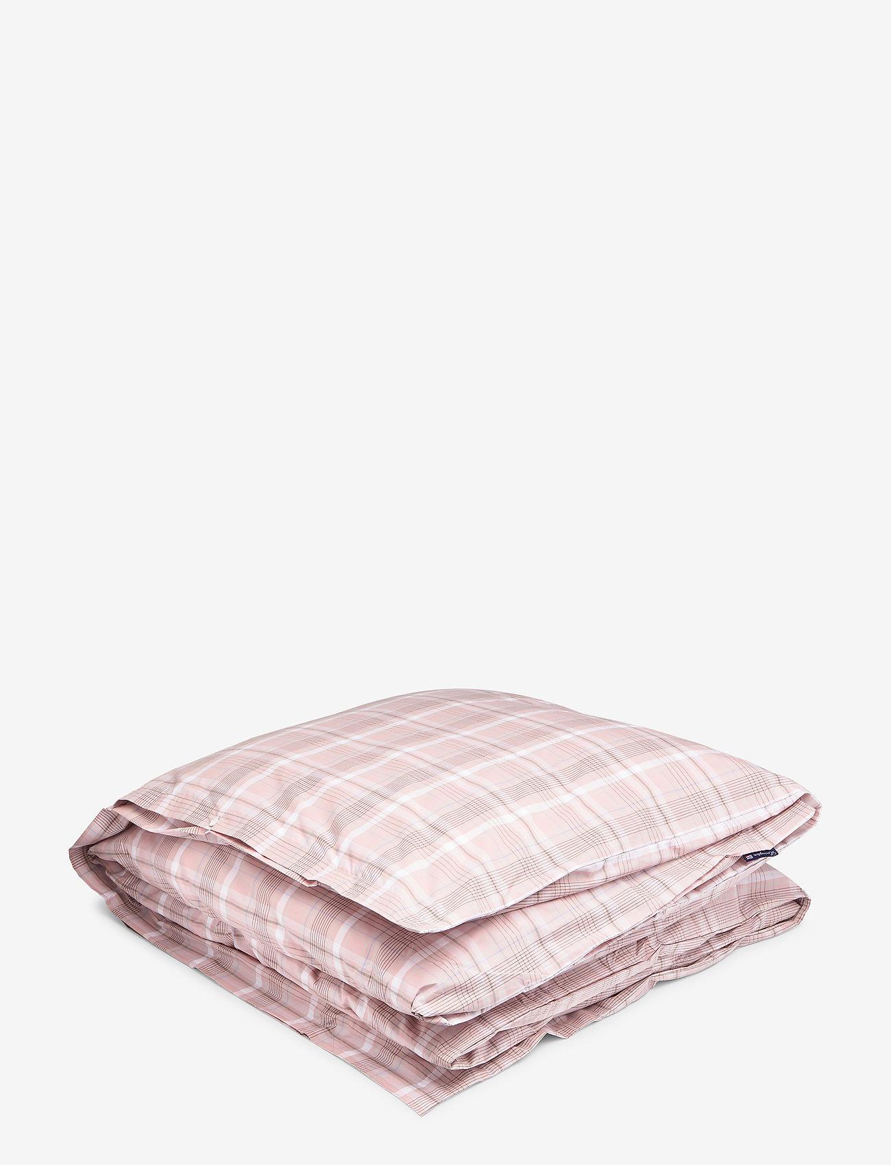 Lexington Home - Pink Checked Madras Poplin Duvet - peitot - white/pink - 0
