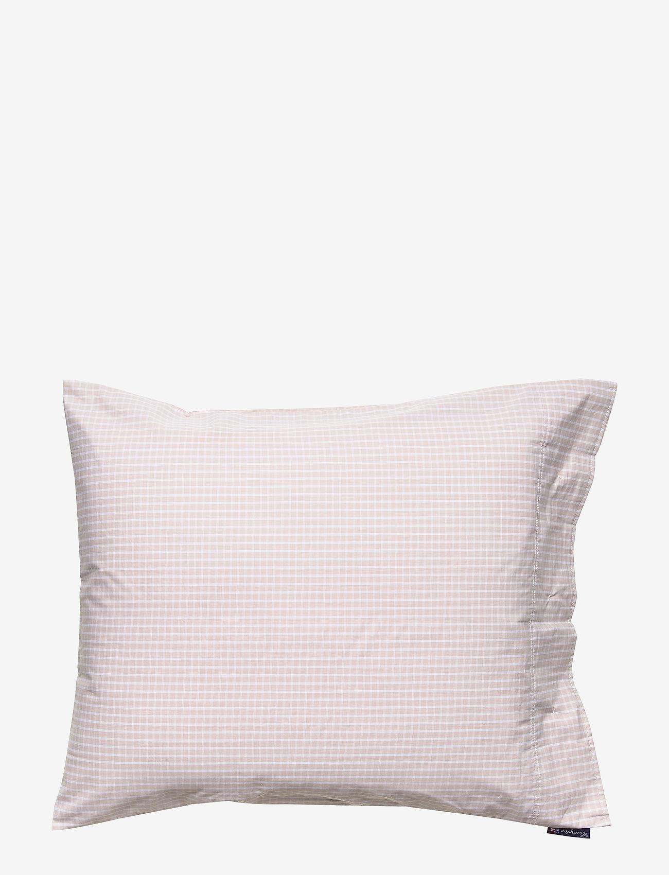 Lexington Home - Beige Checked Tencel Pillowcase - pillowcases - white/beige - 1