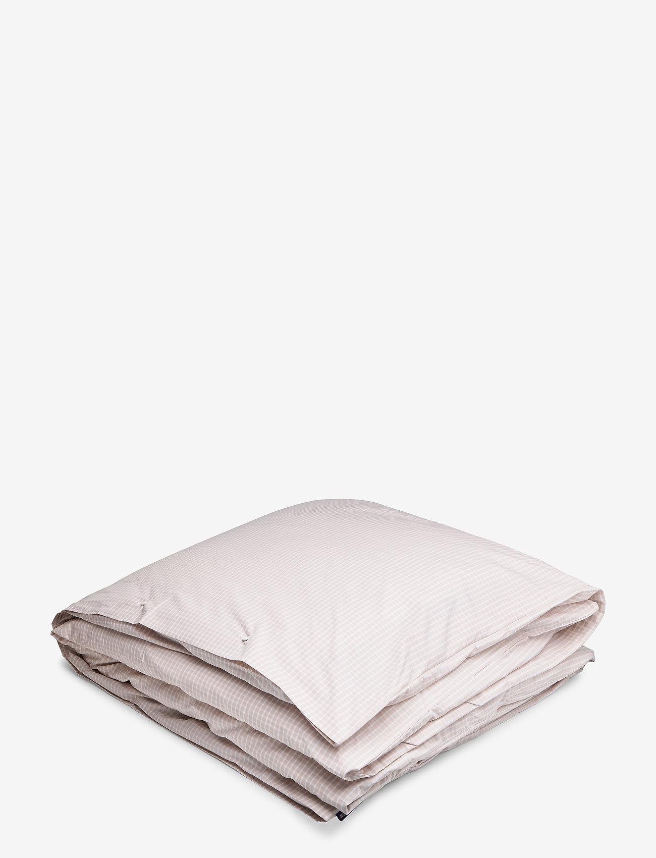 Lexington Home - Beige Checked Tencel Duvet - duvet covers - white/beige - 0