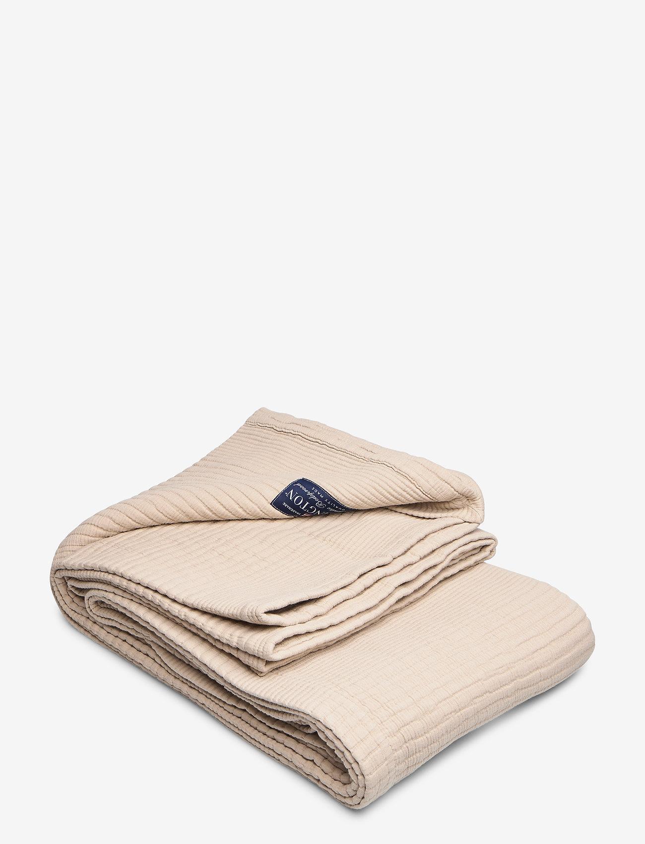 Lexington Home - Quilt Cotton Bedspread - päiväpeitot - beige - 0