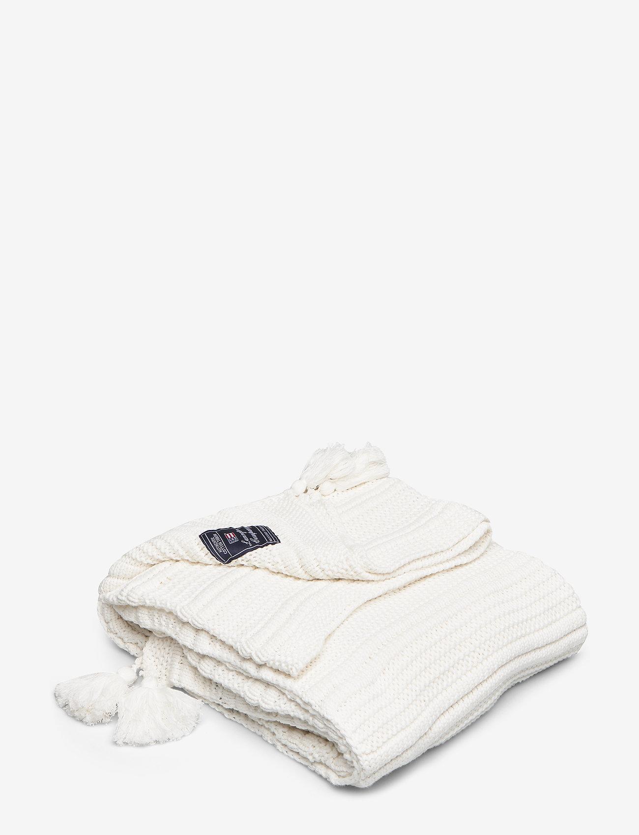 Lexington Home - Knitted Tassel Throw - viltit - white - 0