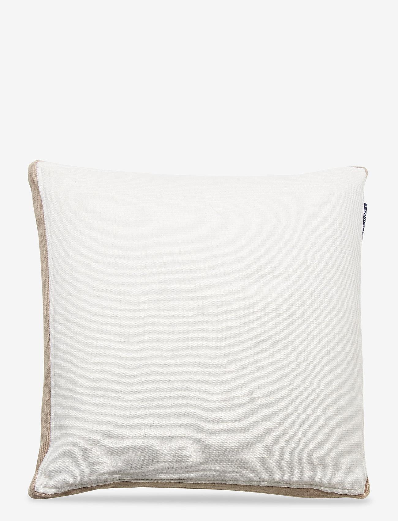Lexington Home - Cotton Jute Sham - tyynyliinat - white - 0