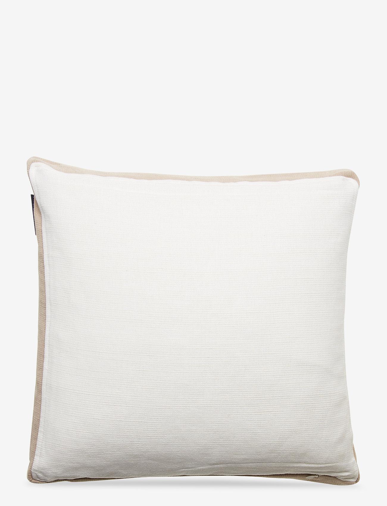 Lexington Home - Cotton Jute Sham - tyynyliinat - white - 1