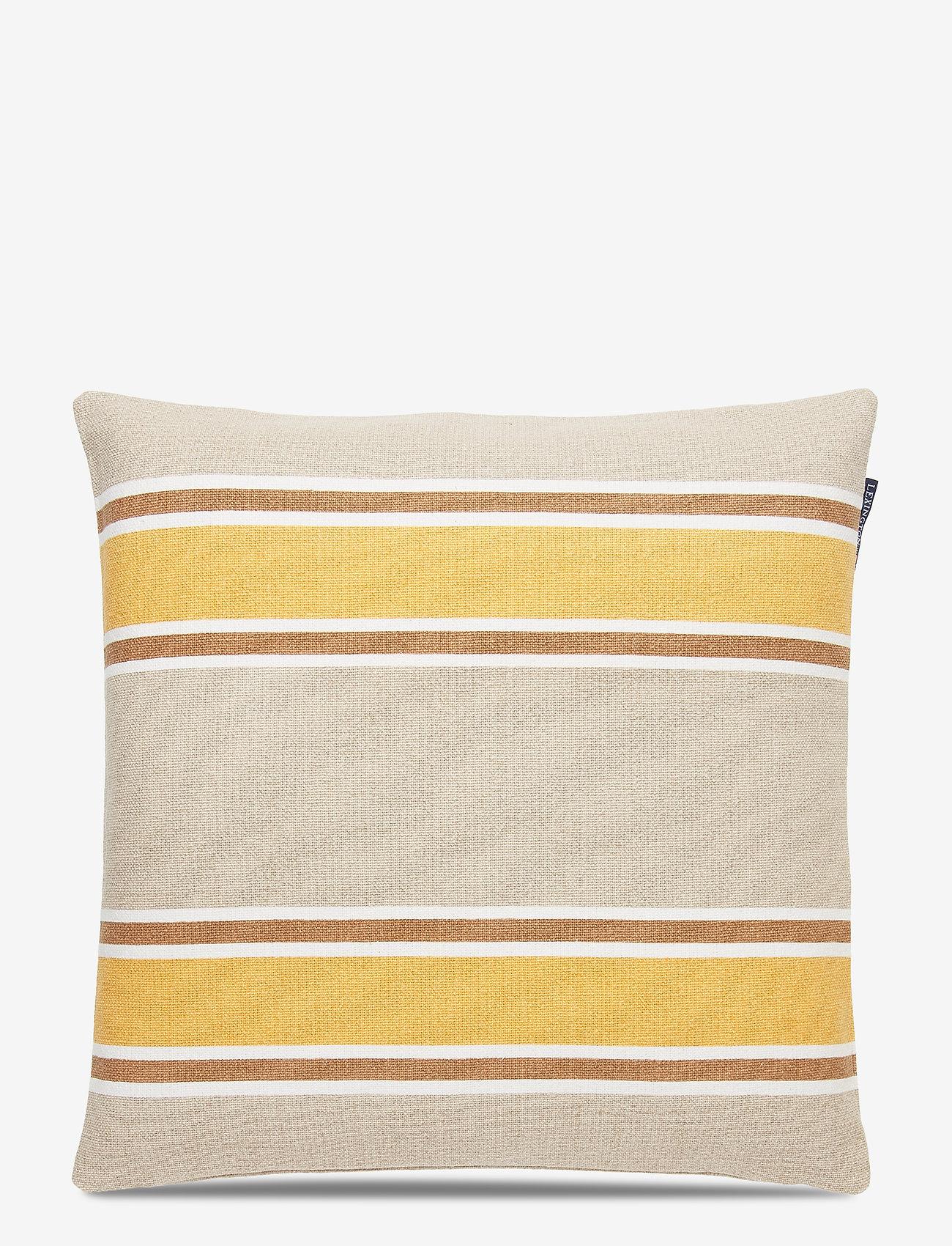 Lexington Home - Striped Cotton Canvas Sham - poszewki na poduszki ozdobne - yellow - 0