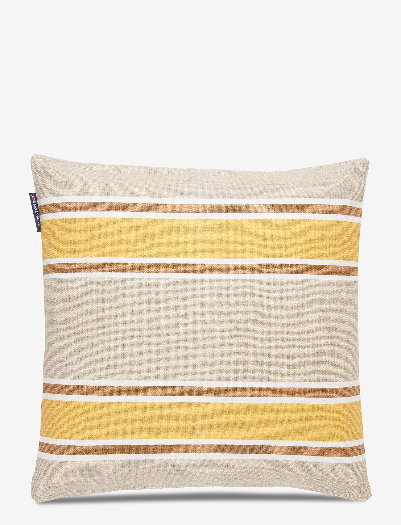 Lexington Home - Striped Cotton Canvas Sham - poszewki na poduszki ozdobne - yellow - 1