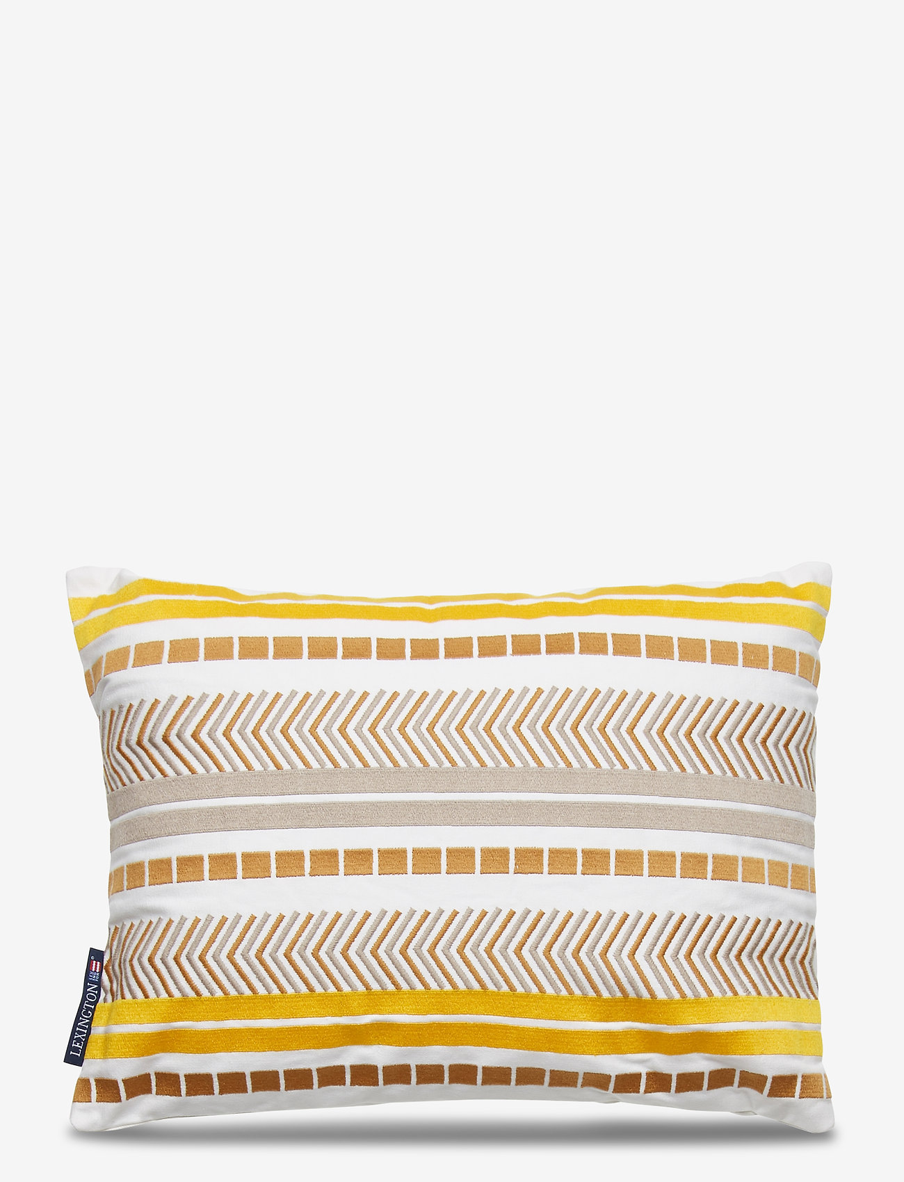Lexington Home - Embroidered Jacquard Sham - tyynyliinat - yellow - 0