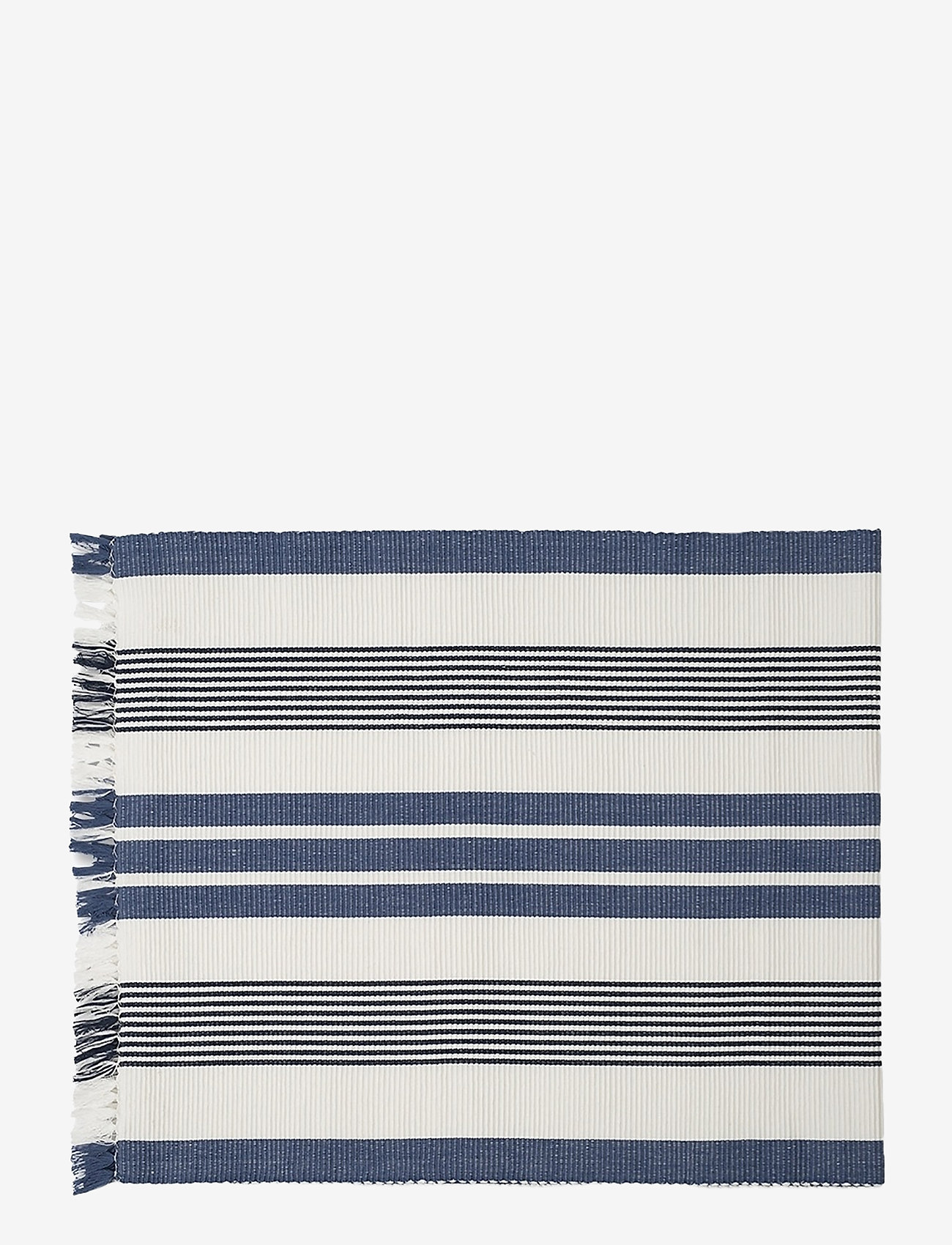 Lexington Home - Striped Fringe Runner - kankaiset lautasliinat - white/blue - 0