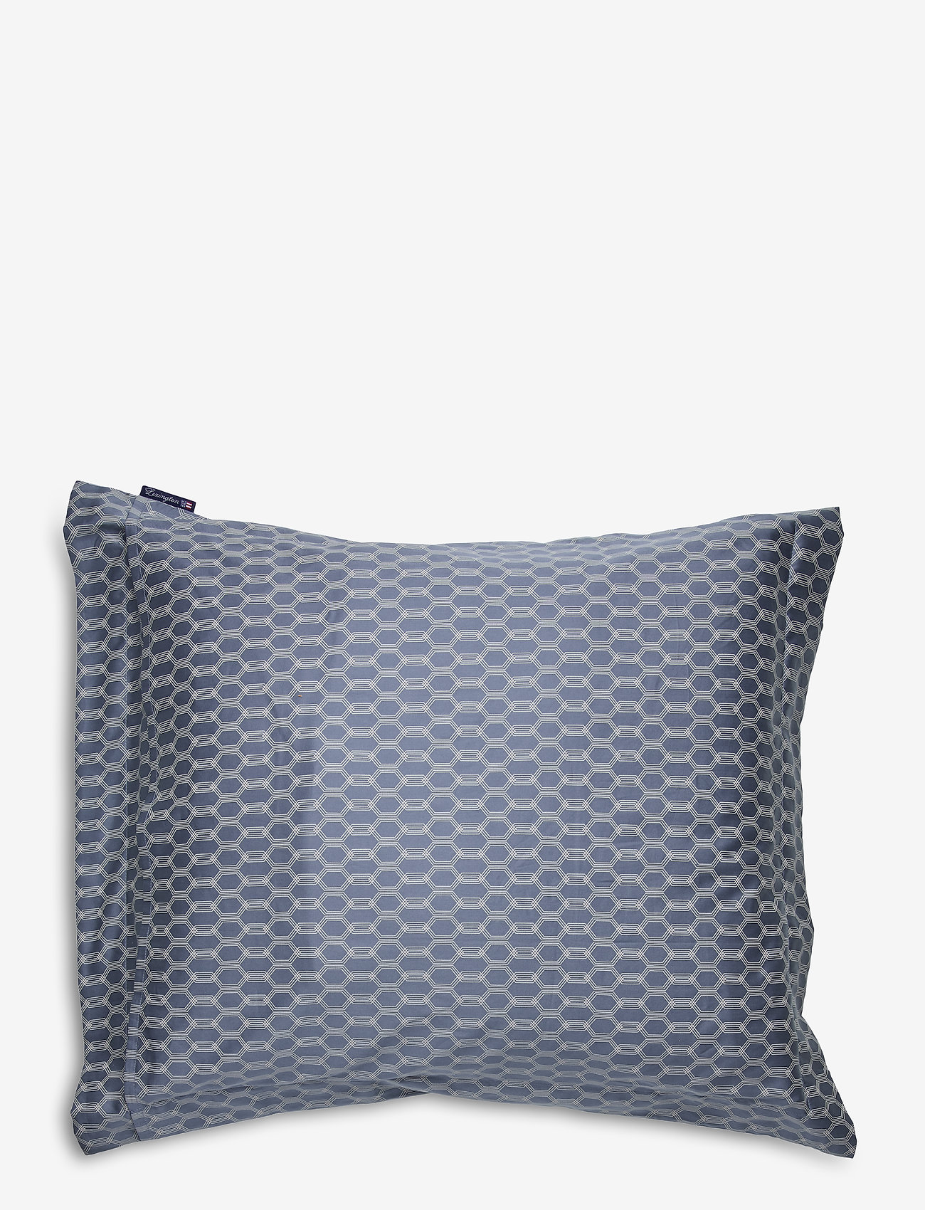 Lexington Home - Steel Blue/Off White Printed Cotton Sateen Pillowc - pillowcases - steel blue/off white - 1