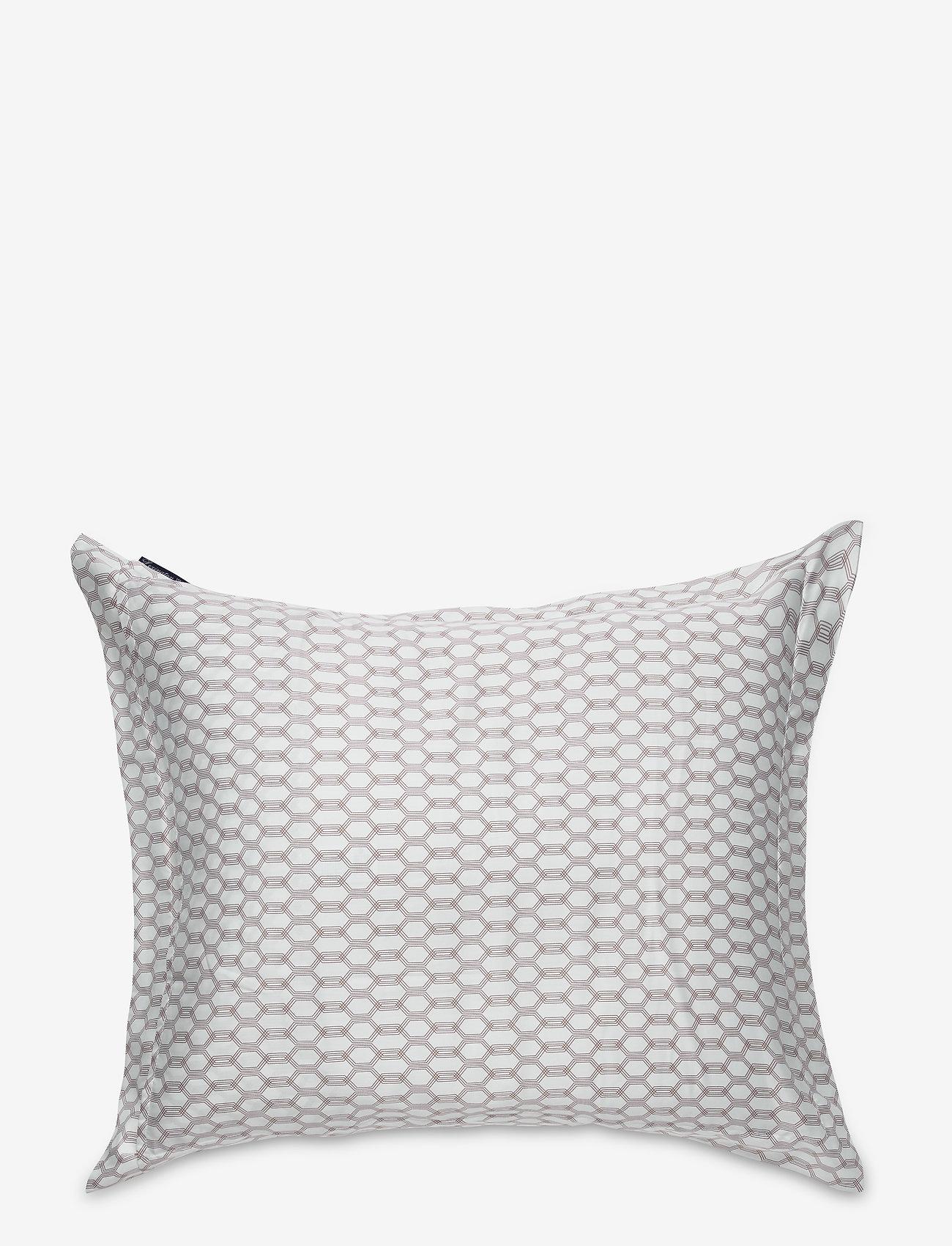 Lexington Home - White/Dk Beige Printed Cotton Sateen Pillowcase - tyynyliinat - white/dk beige - 1